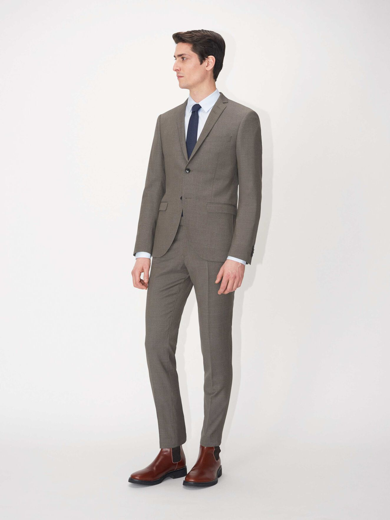 S.Jile Suit in Caribou from Tiger of Sweden