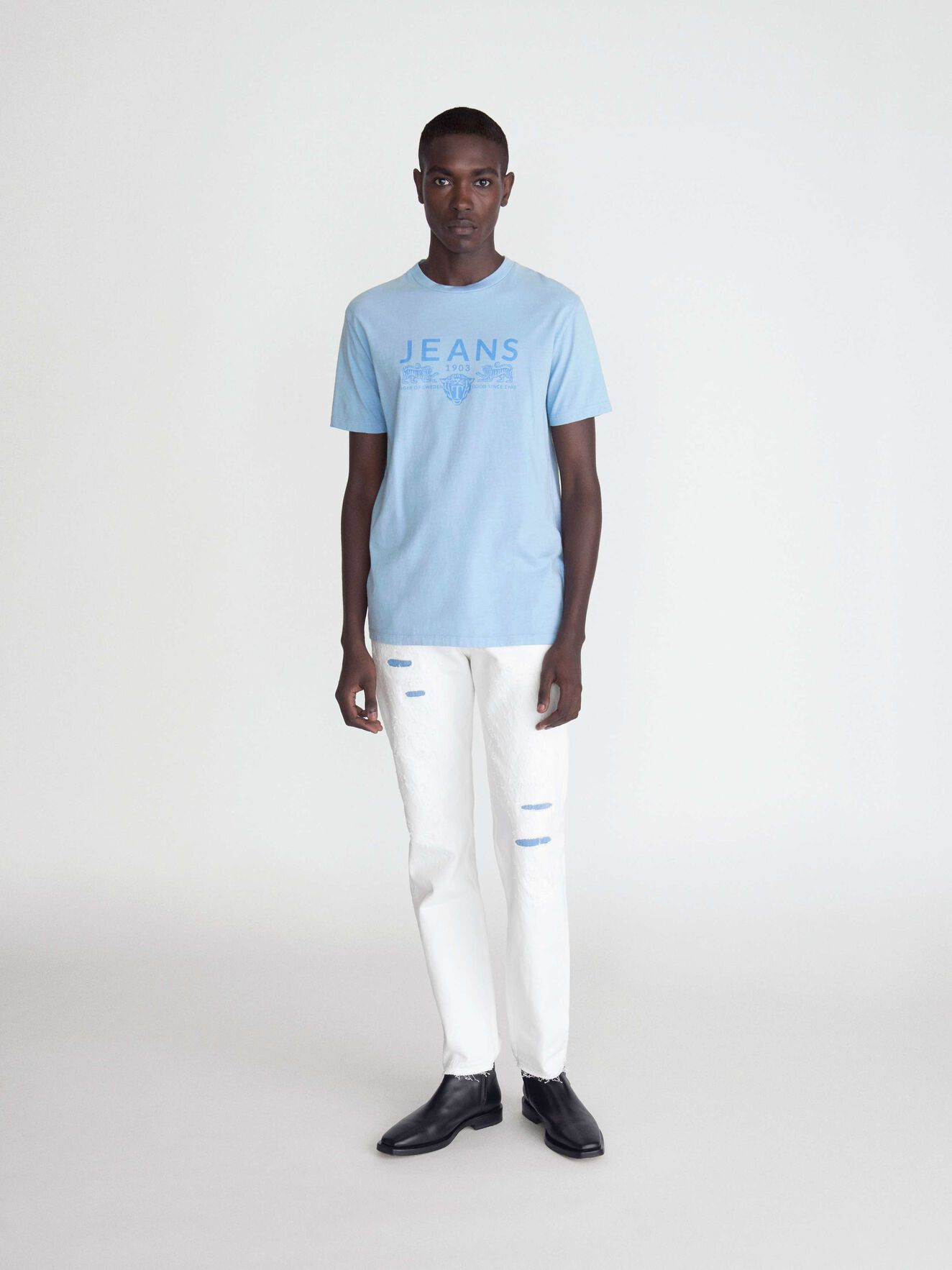 Fleek Pr T-Shirt in Chambray Blue from Tiger of Sweden