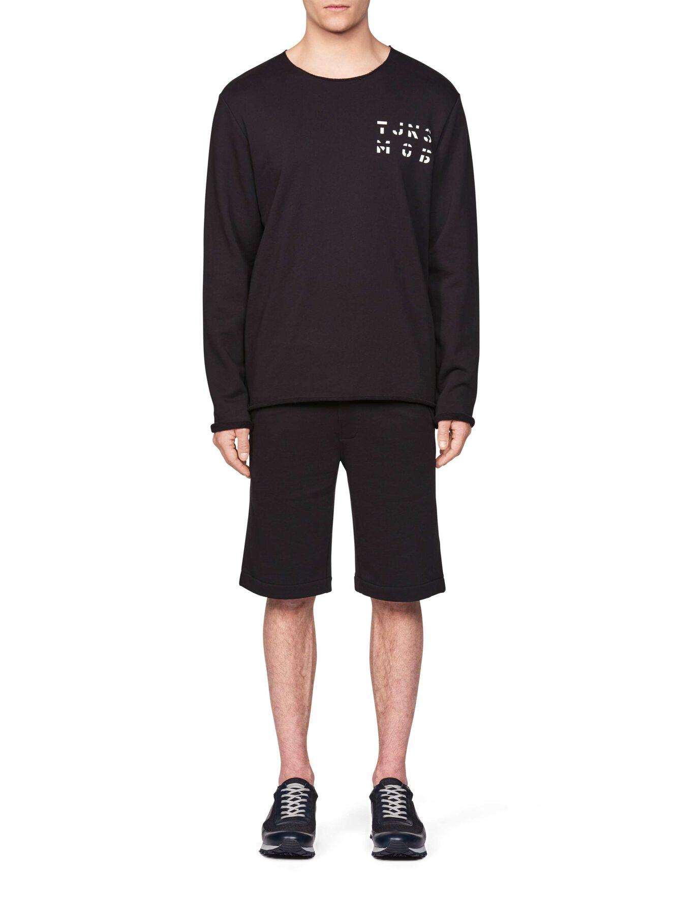 Destroyed  Sweatshirt in Black from Tiger of Sweden