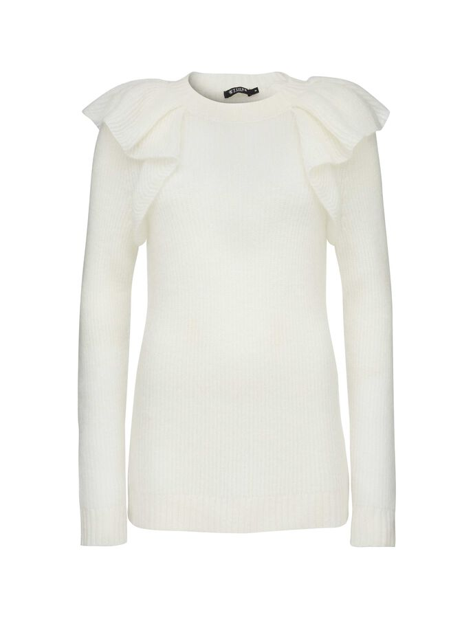 ARLON PULLOVER in Star White from Tiger of Sweden