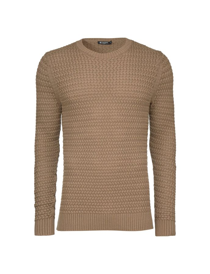ESBEN  PULLOVER in Caribou from Tiger of Sweden