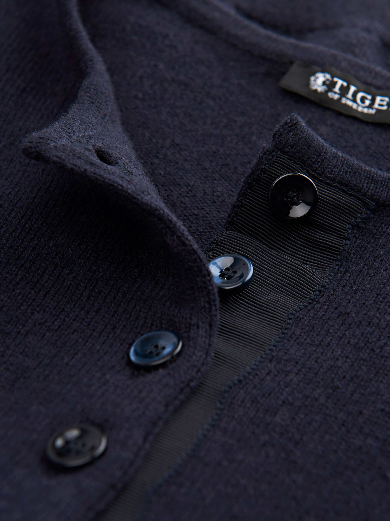 Aktino Cardigan in Dark Sea from Tiger of Sweden