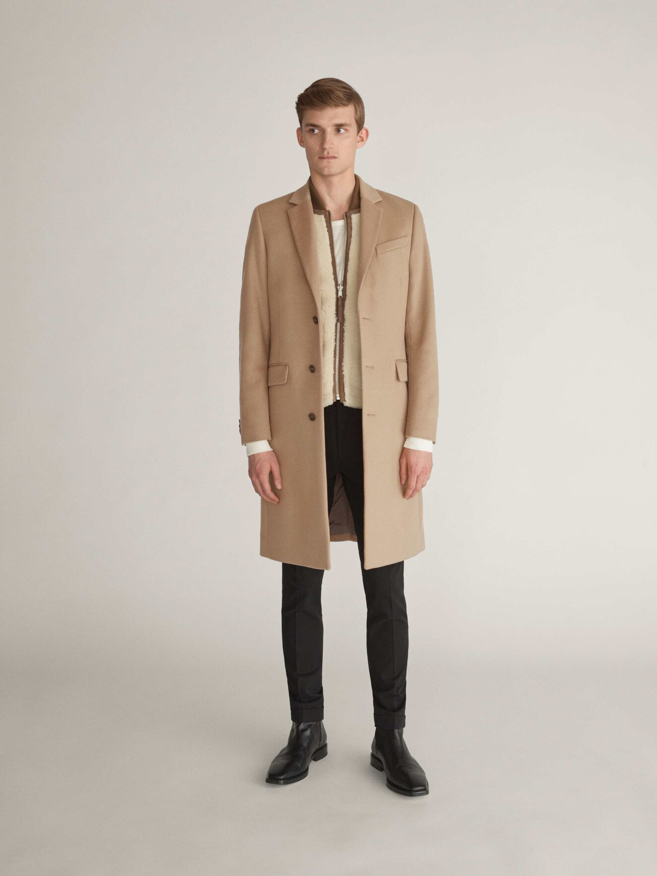 Coltmar Coat in Dark Honey from Tiger of Sweden