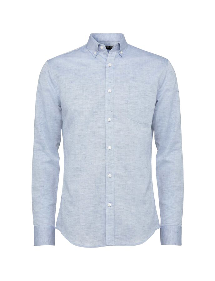 Donald 4 shirt in Port Blue from Tiger of Sweden