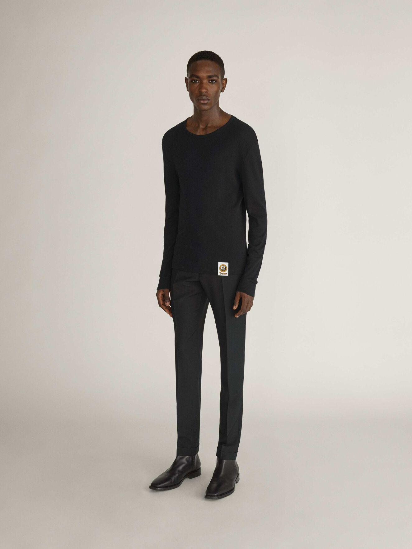 Davidson T-Shirt in Black from Tiger of Sweden