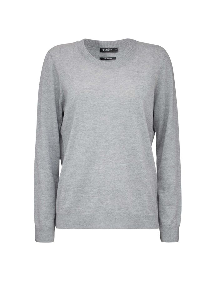 CORY PULLOVER in Light grey melange from Tiger of Sweden