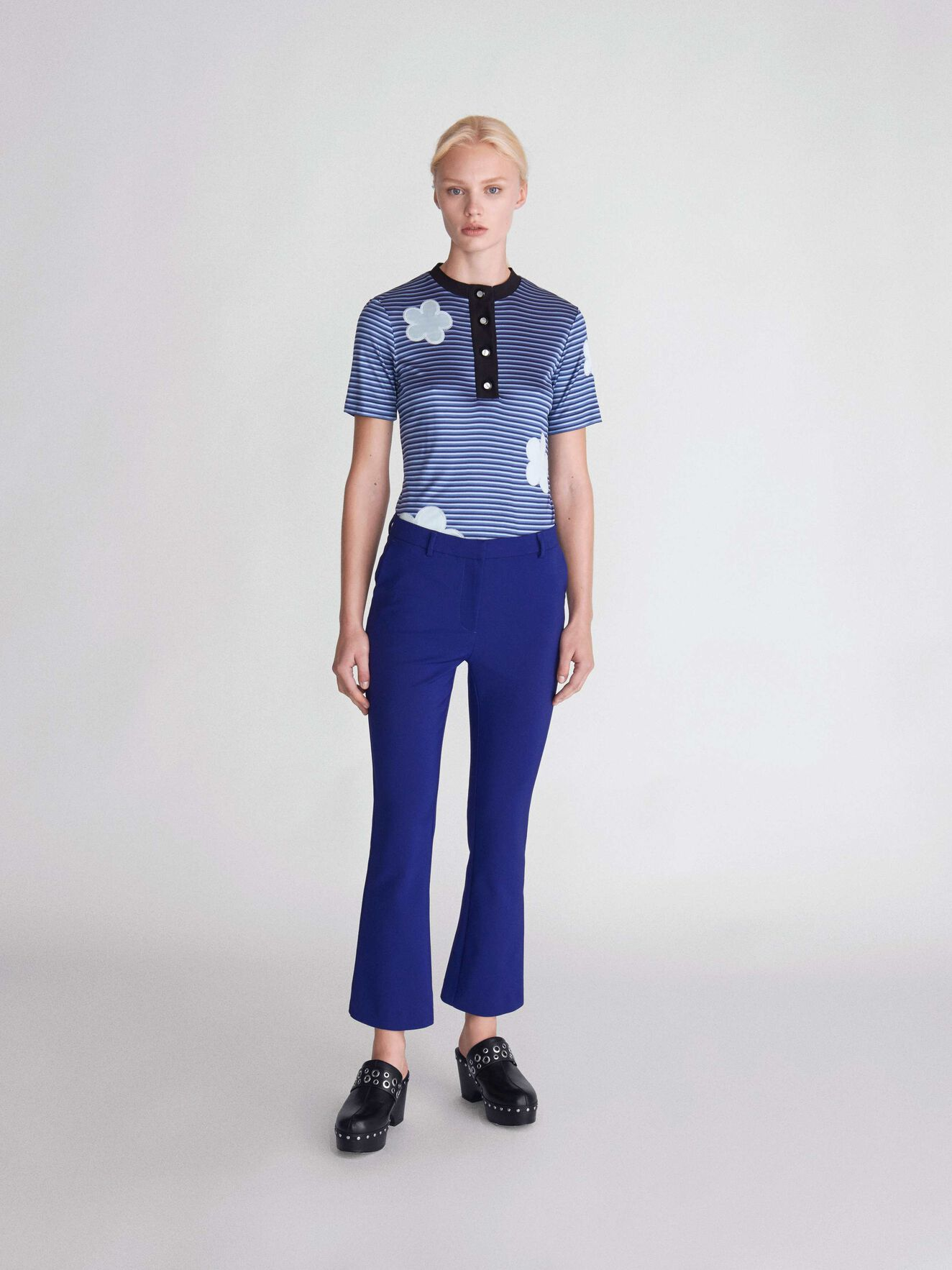 Noora 2 Trousers in Deep Ocean Blue from Tiger of Sweden