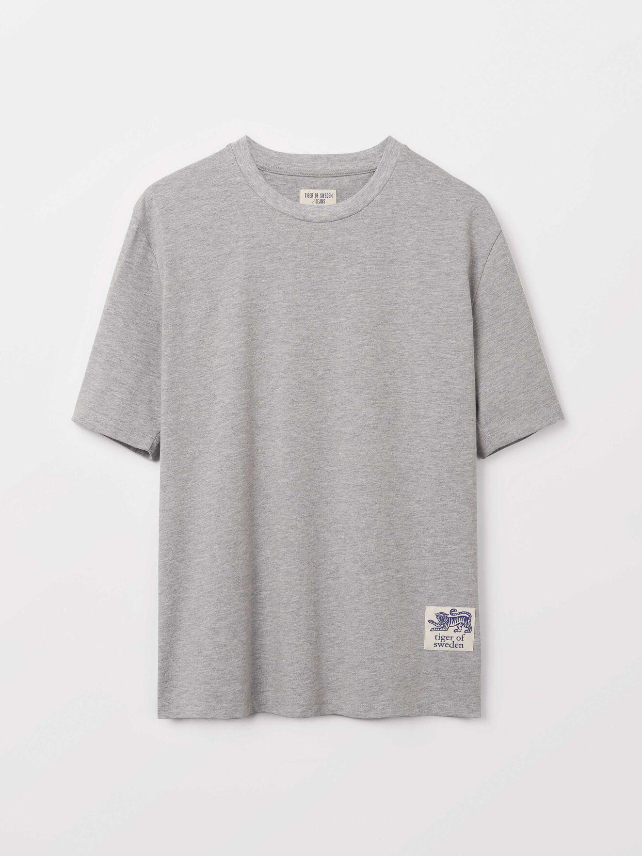 Pro T-Shirt in Med Grey Mel from Tiger of Sweden