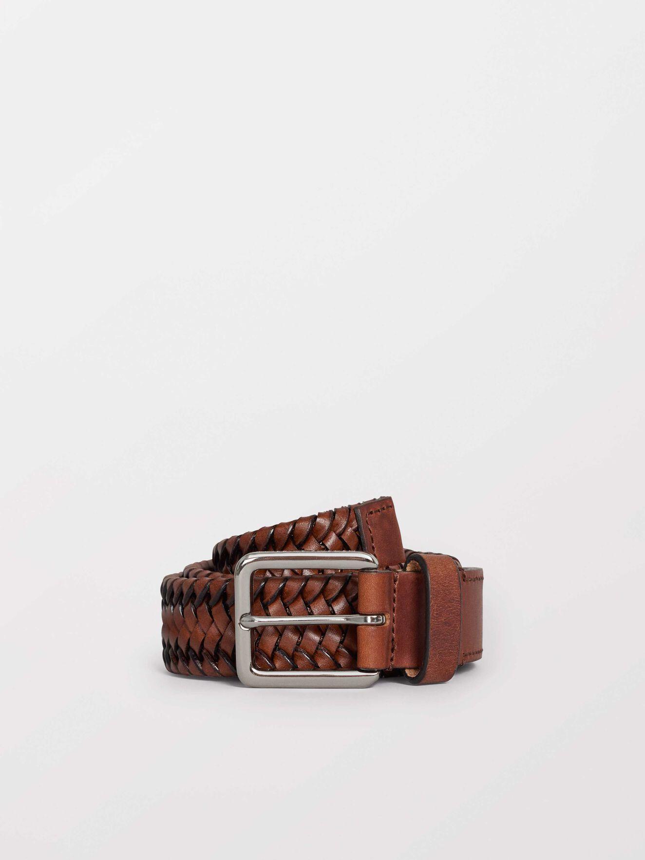 Braidant Belt in Dark Brown from Tiger of Sweden