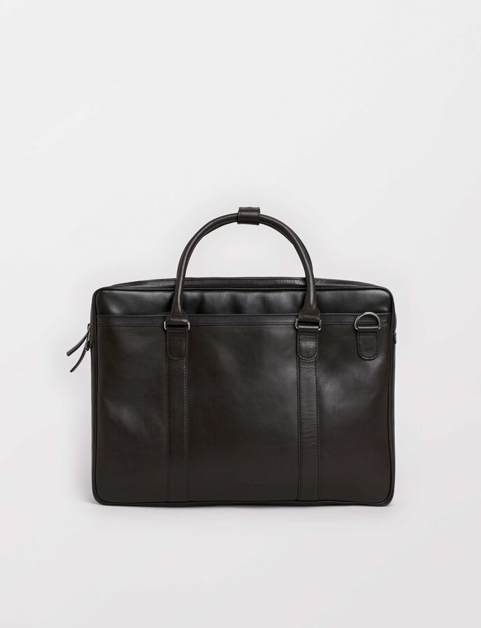 Printel Briefcase in Dark Brown from Tiger of Sweden