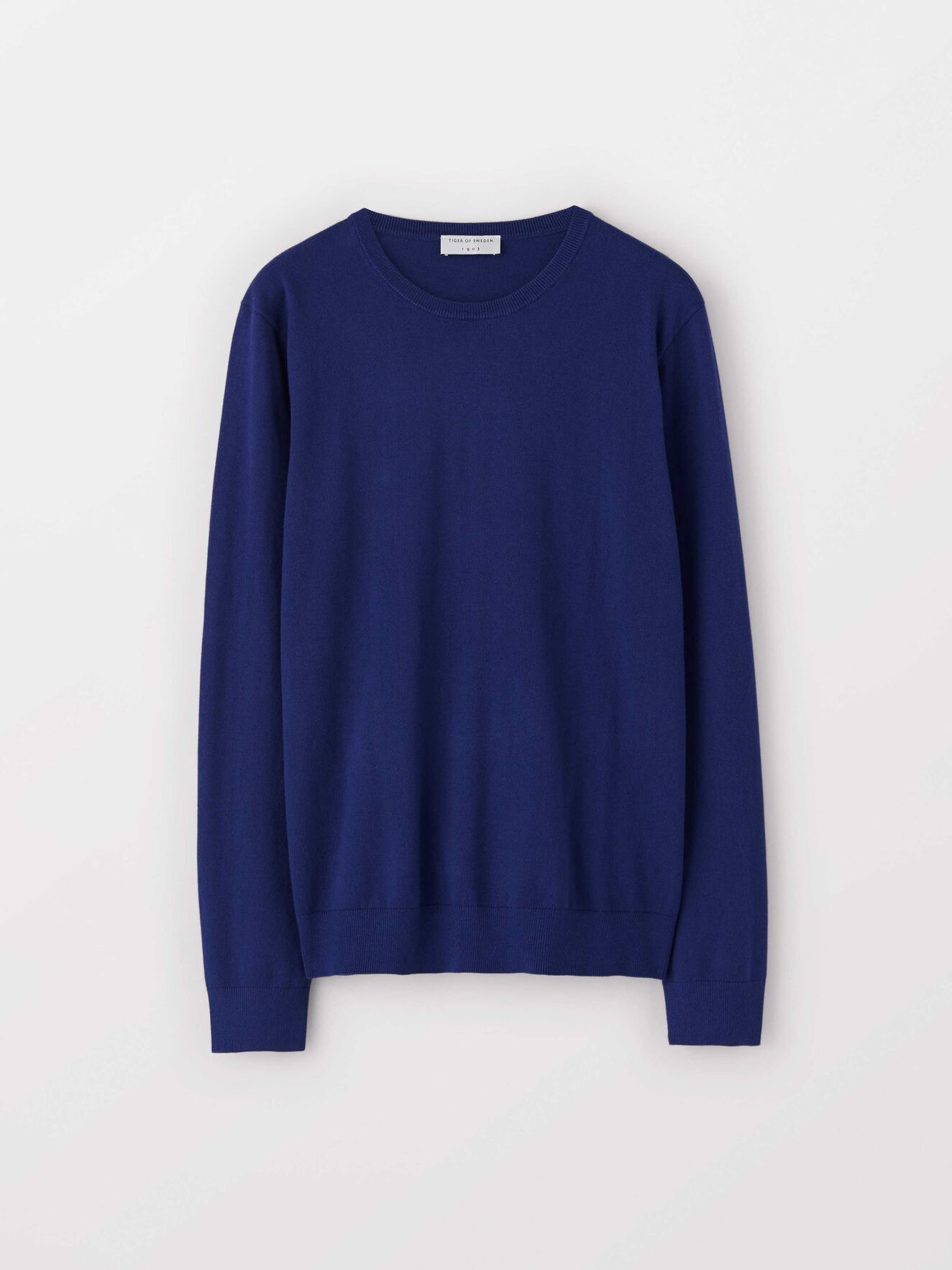 Matias Cs Pullover in Bright Navy from Tiger of Sweden
