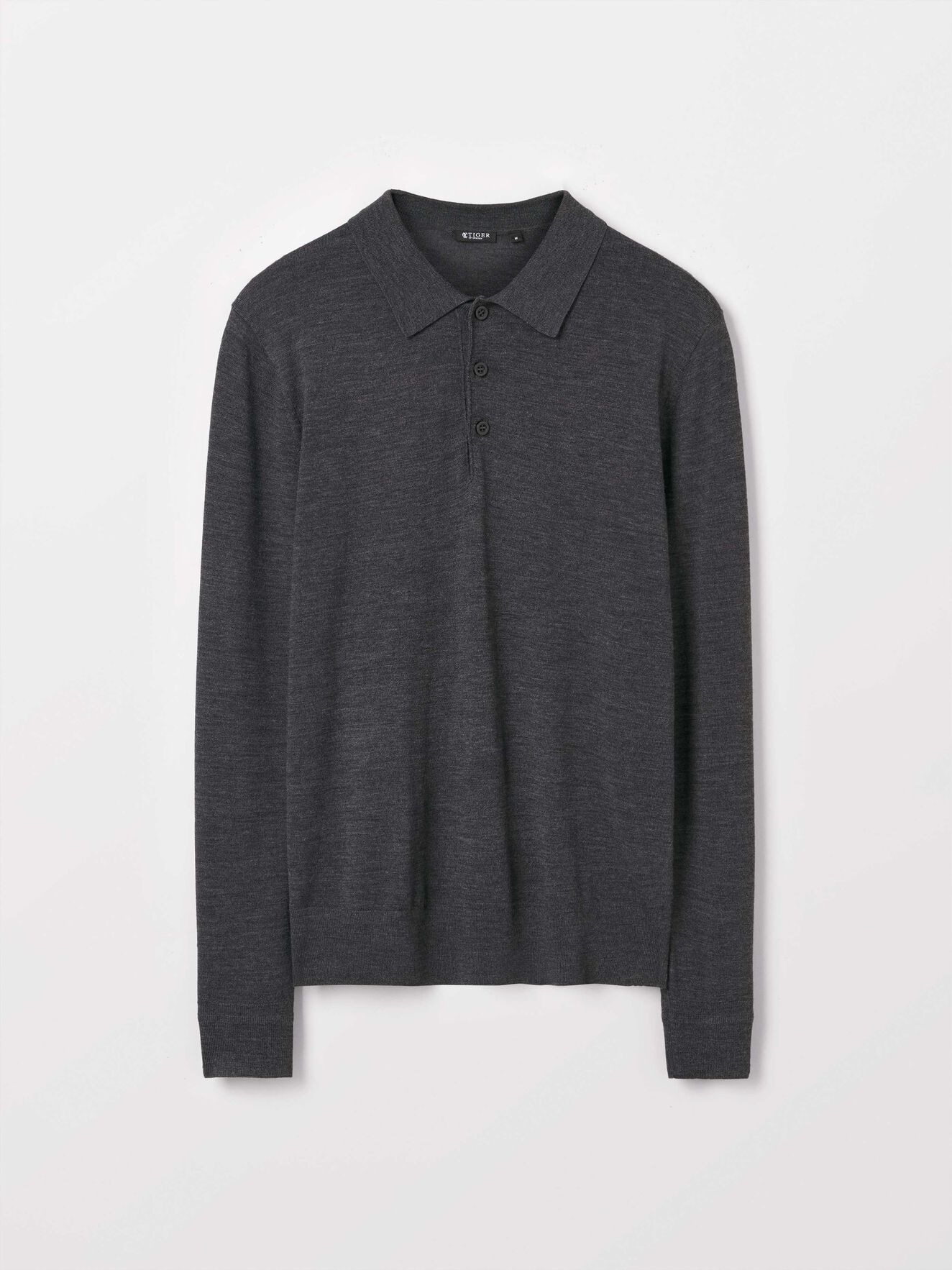 Newton Pullover in Med Grey Mel from Tiger of Sweden