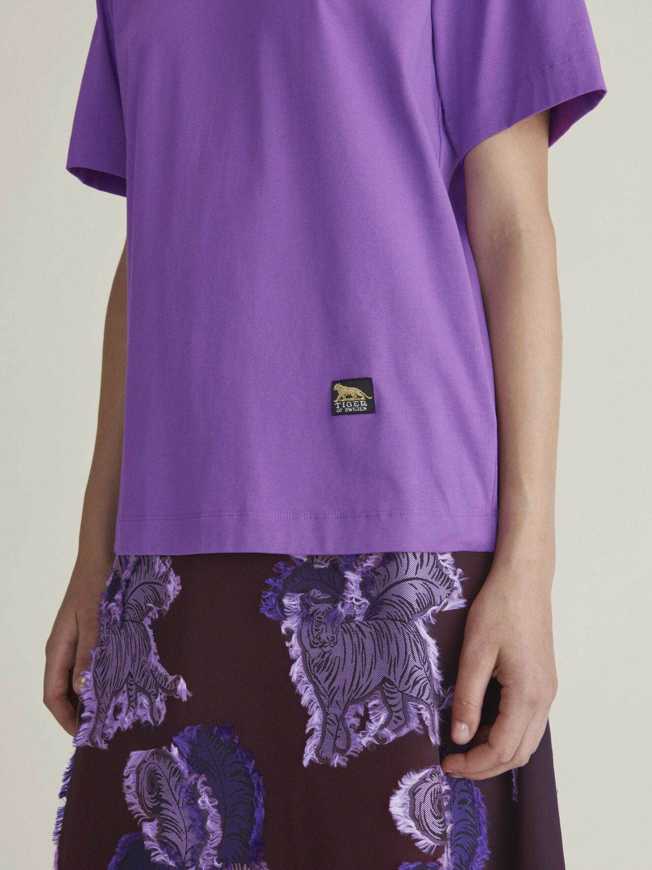 Dellana T-Shirt in Smashing Lilac from Tiger of Sweden
