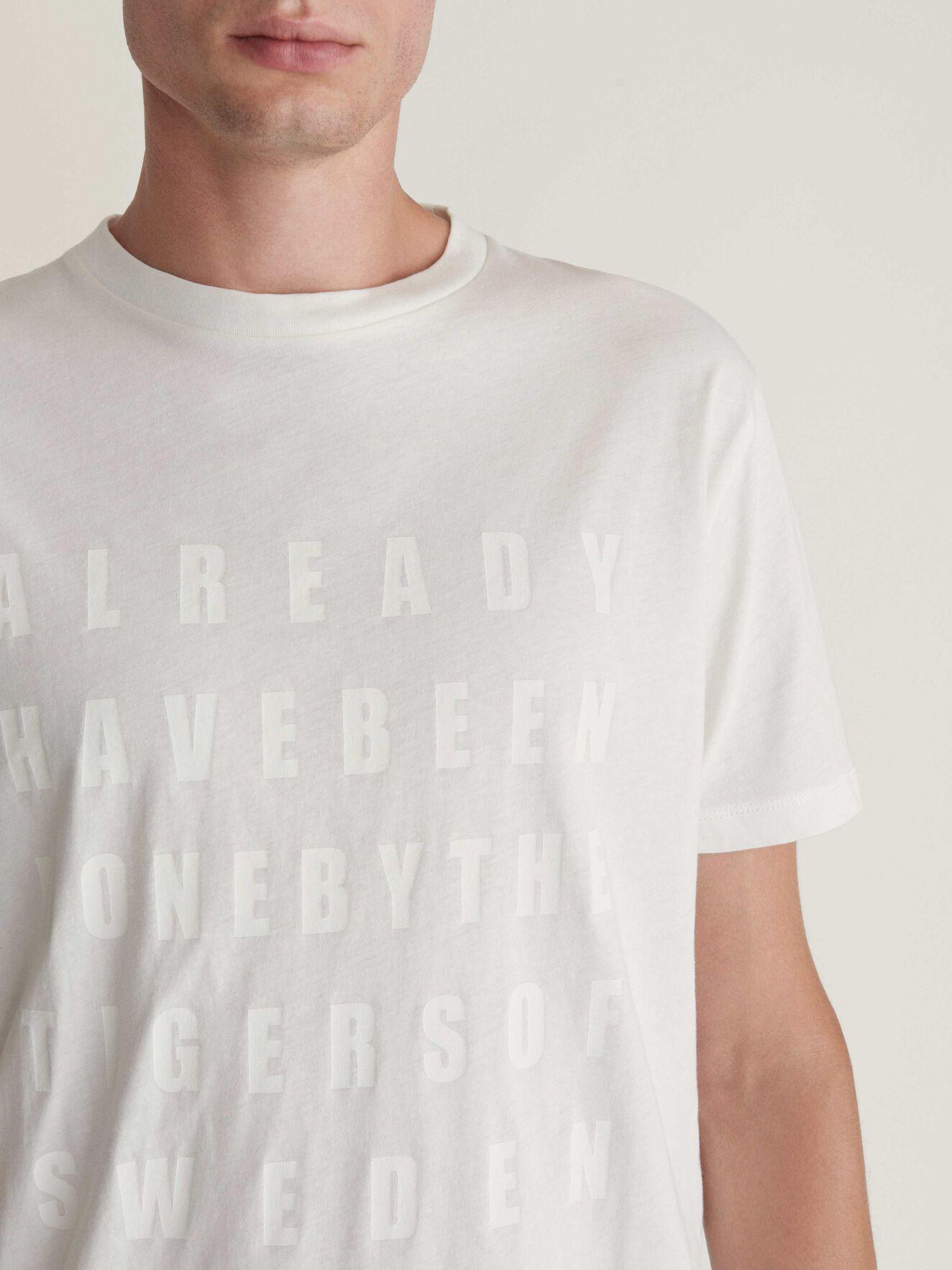 Fleek Pr T-Shirt in White Light from Tiger of Sweden