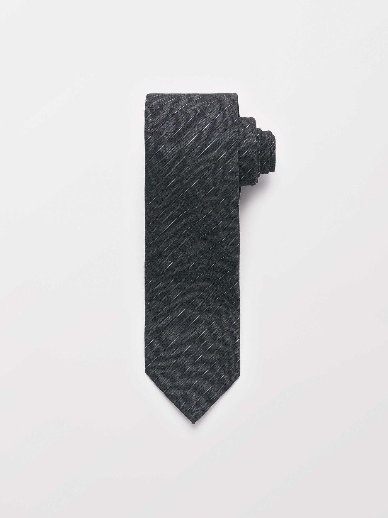 Trage Krawatte in Dark grey Mel from Tiger of Sweden