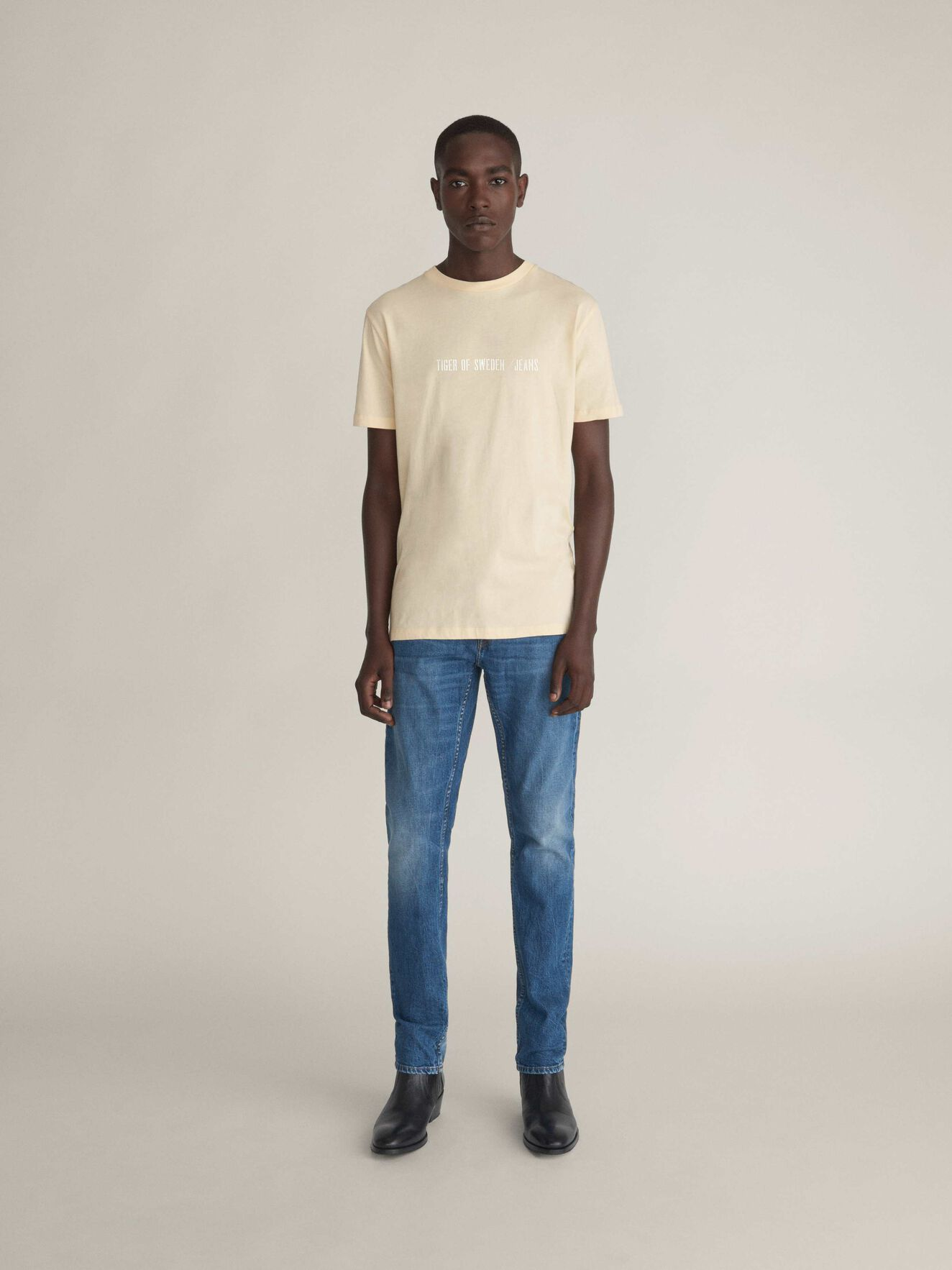 Fleek T-Shirt in Curd from Tiger of Sweden
