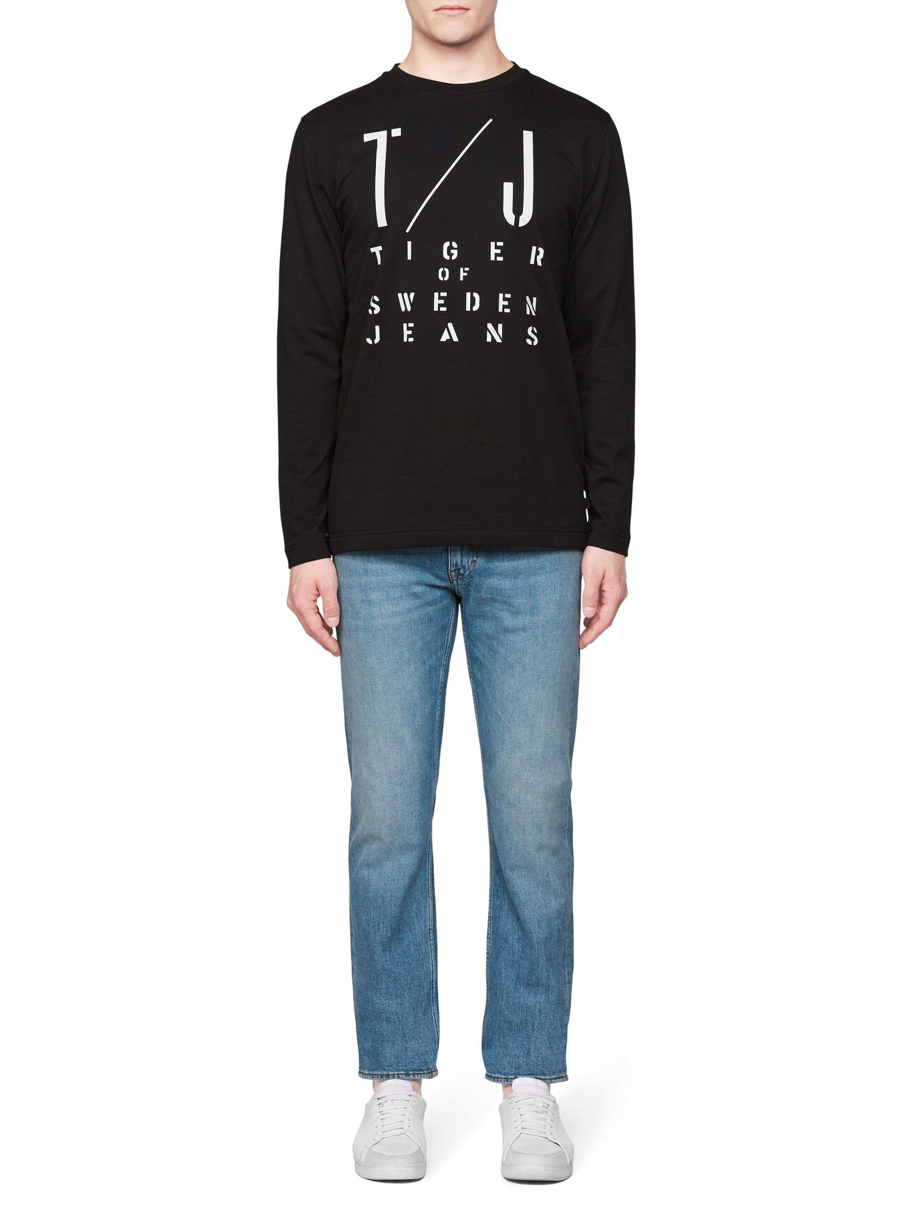 Zac Pr Sweatshirt in Black from Tiger of Sweden