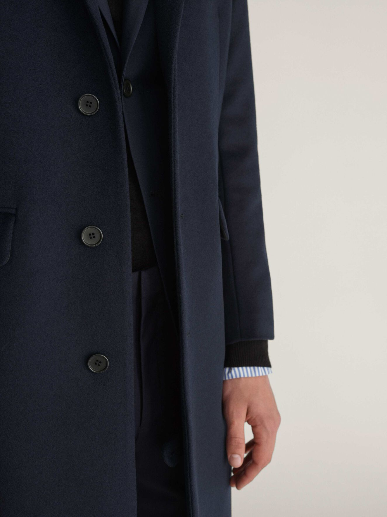 Coltmar Coat in Light Ink from Tiger of Sweden