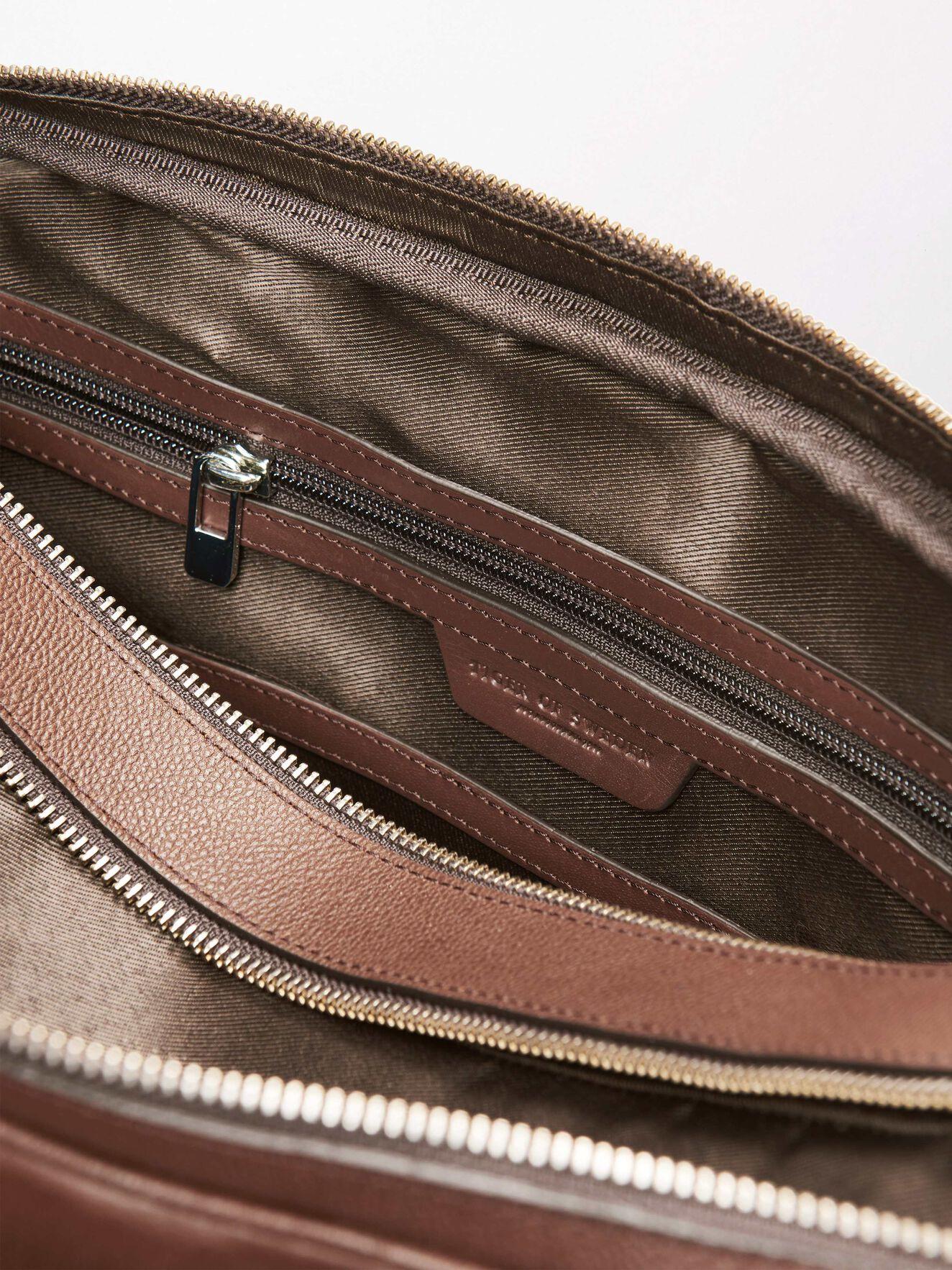 Printel Briefcase in Medium Brown from Tiger of Sweden