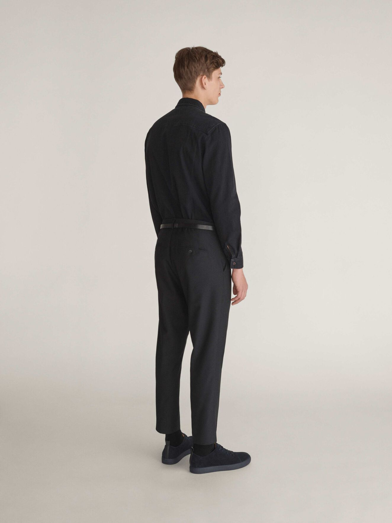 Pure I Shirt in Black from Tiger of Sweden