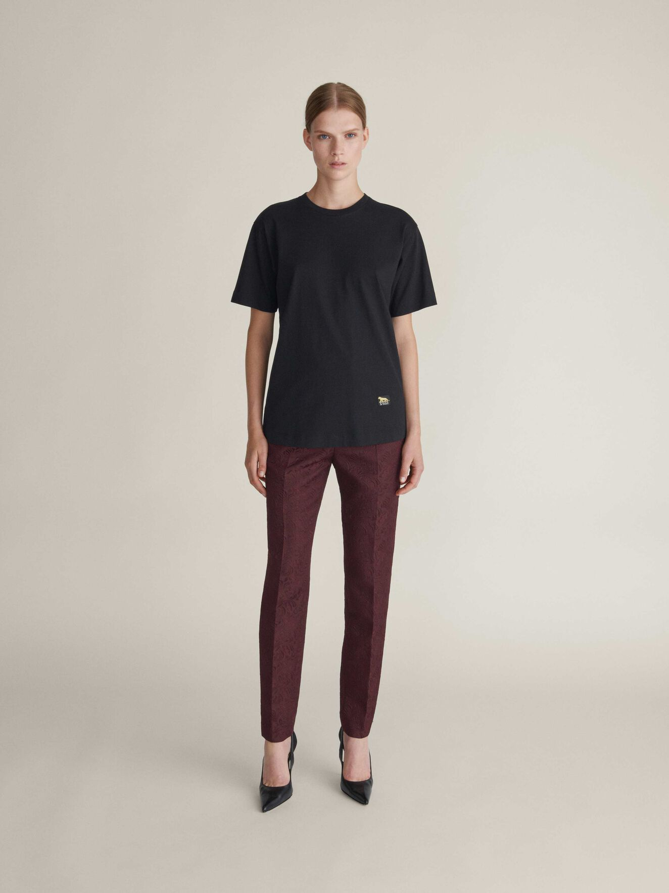 Dellana T-Shirt in Midnight Black from Tiger of Sweden