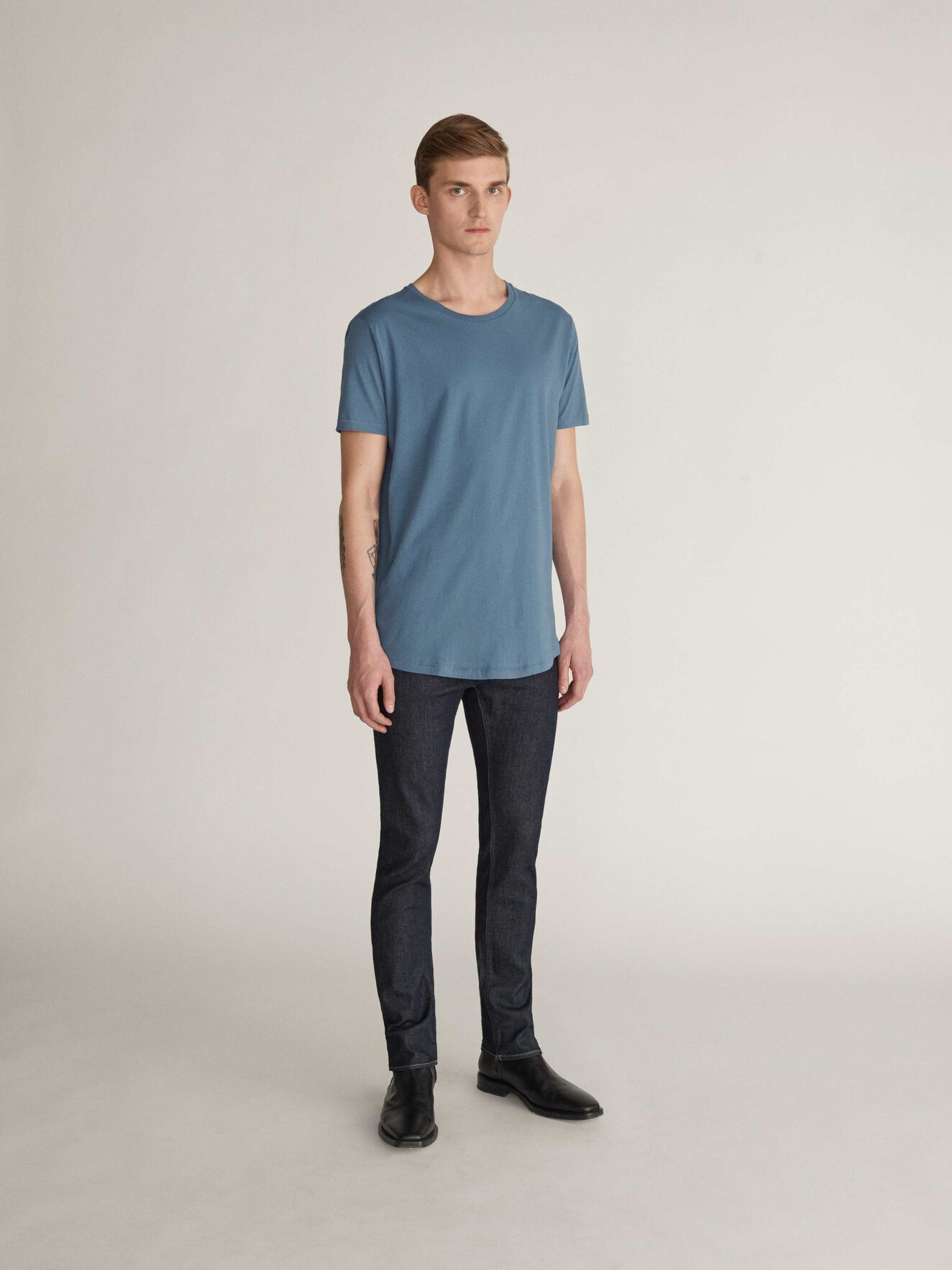 Corey Kurzarm-T-Shirt in Mist Blue from Tiger of Sweden