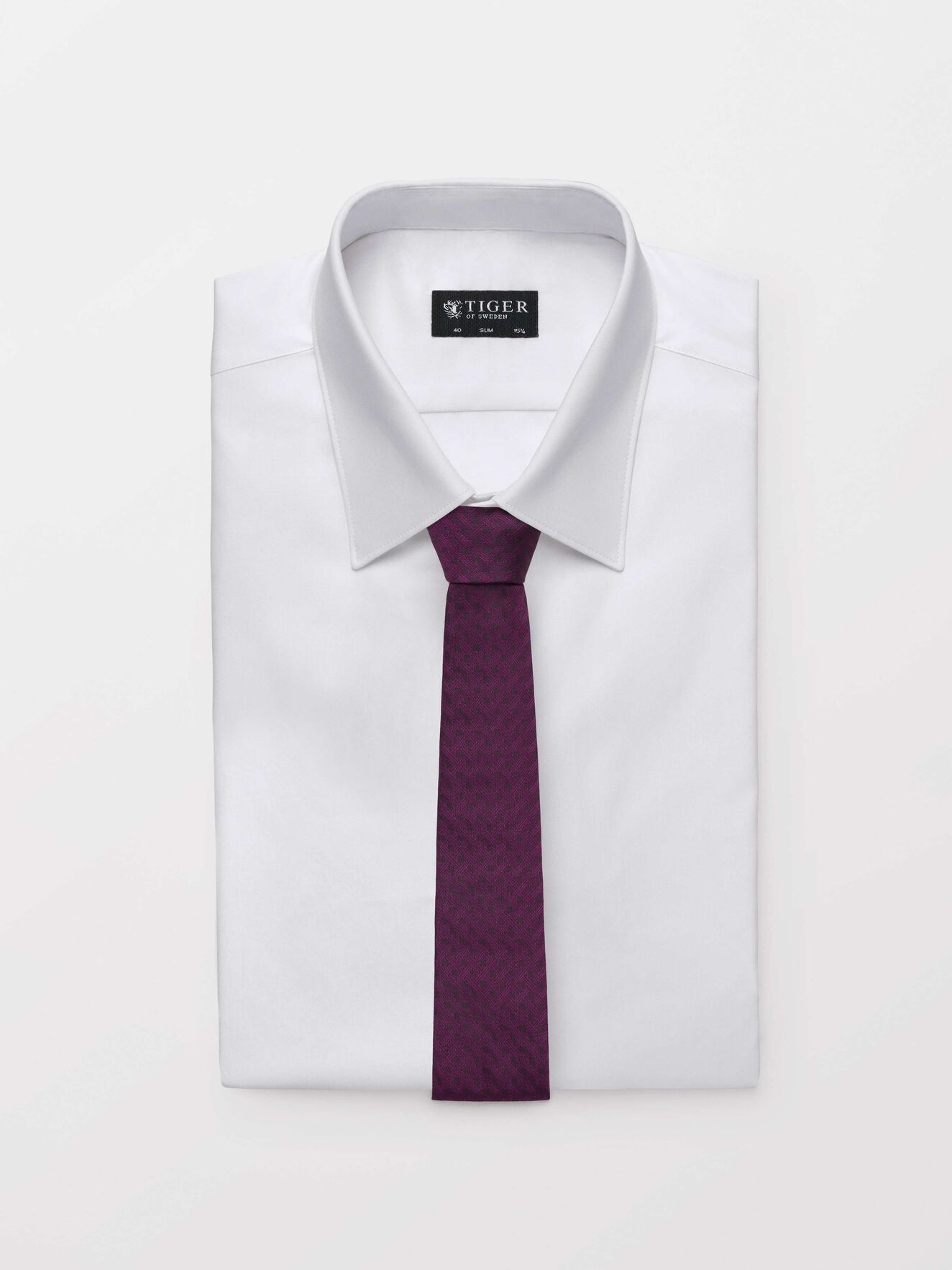 Trem Tie in Deep Purple from Tiger of Sweden