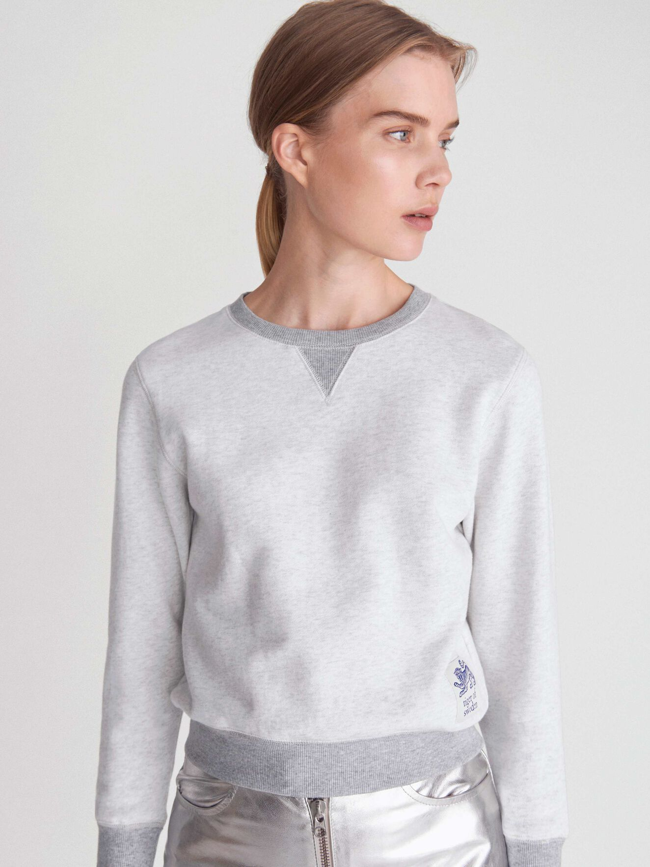 Obscura Sweatshirt in White Light from Tiger of Sweden