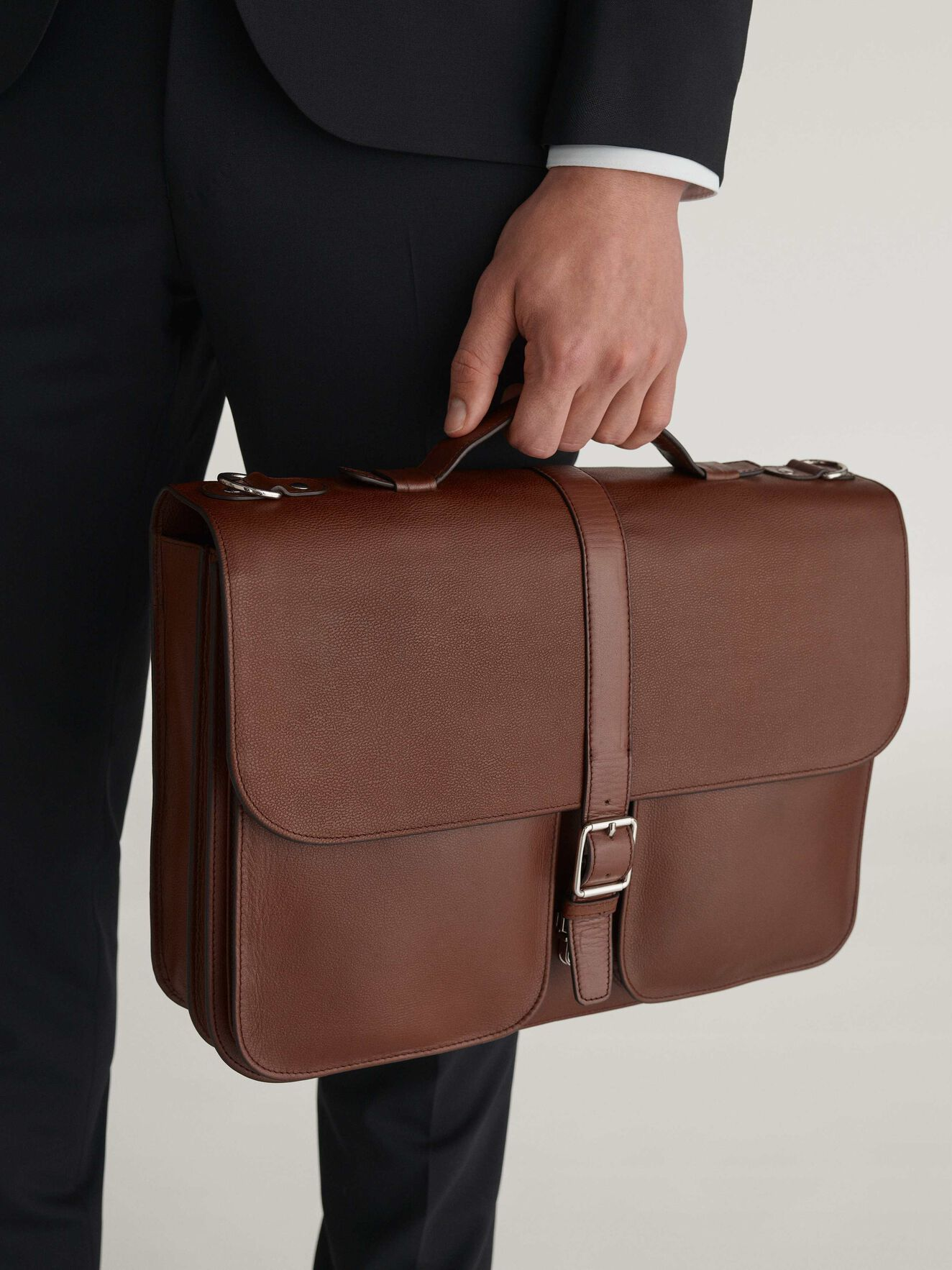 Lucha Briefcase in Medium Brown from Tiger of Sweden