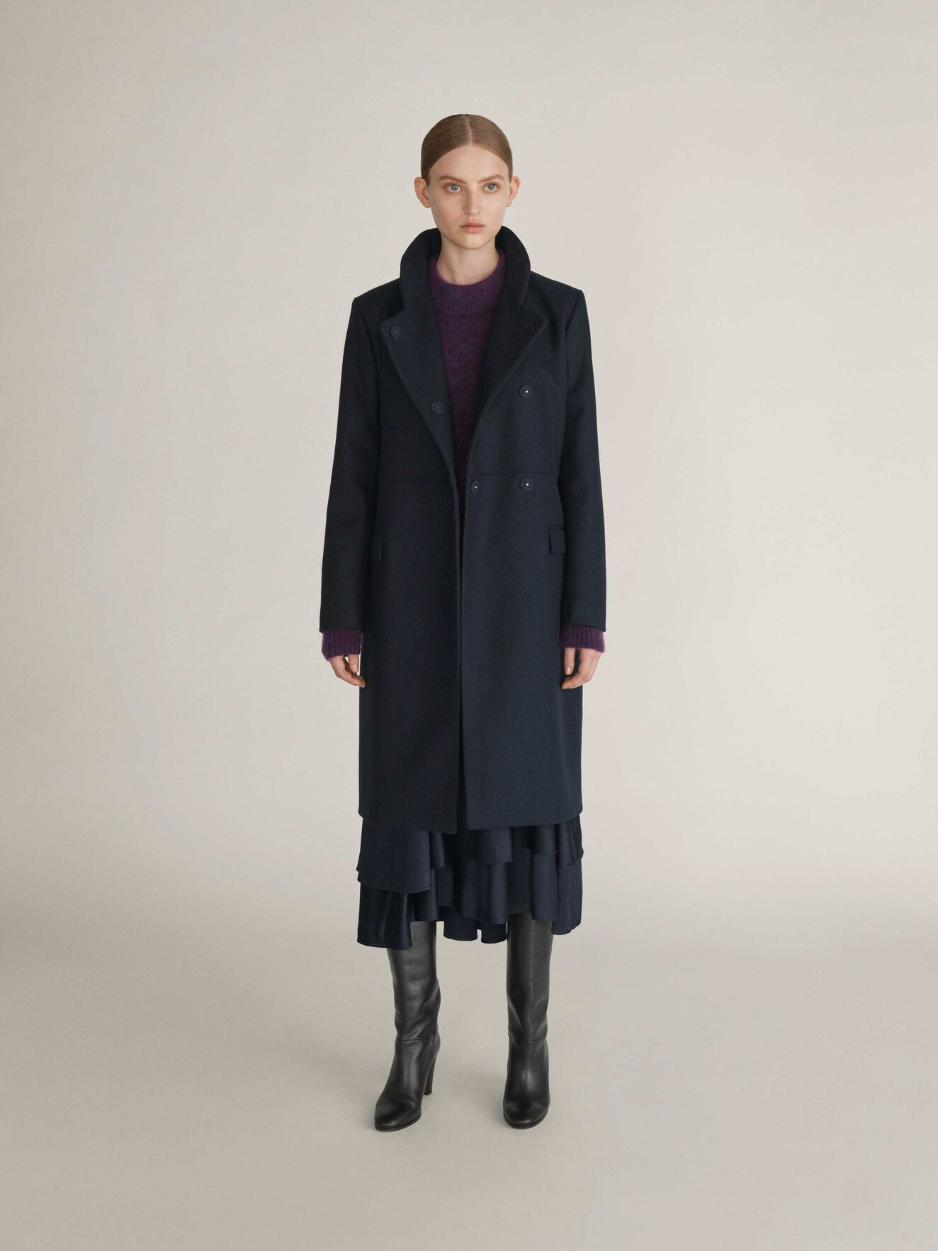 Knopp Coat in Light Ink from Tiger of Sweden