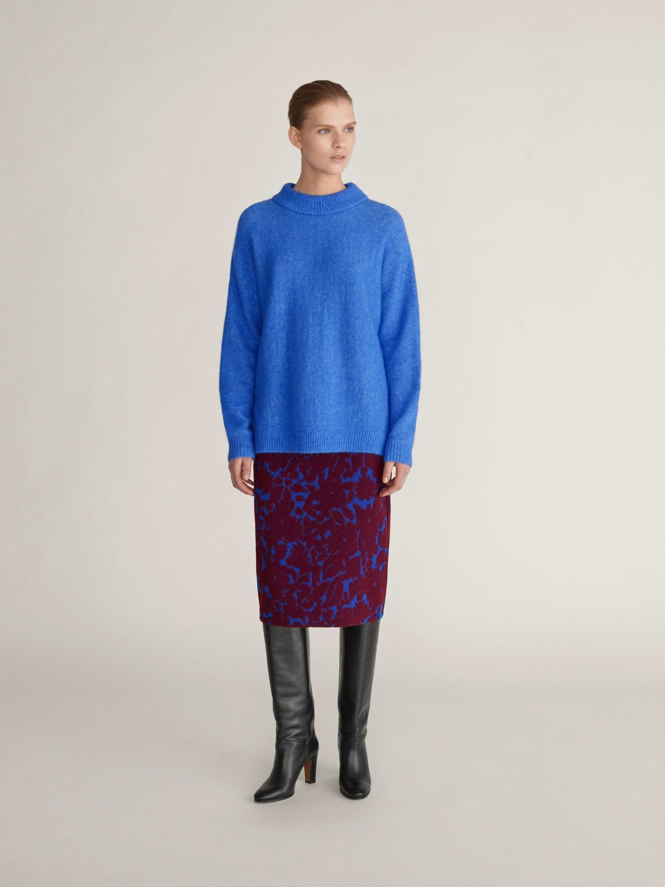 Gwyllen Pullover in Pop Blue from Tiger of Sweden