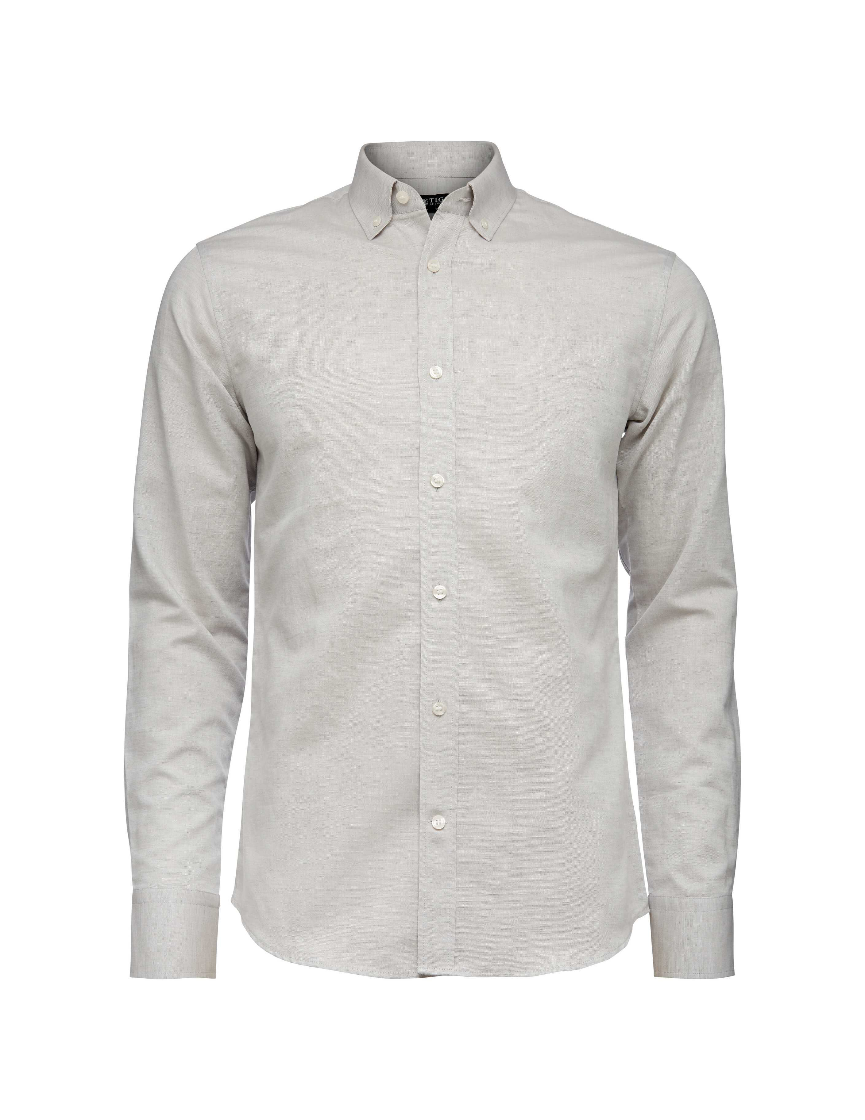 Donald shirt. Slim-fit shirt in cotton-linen oxford