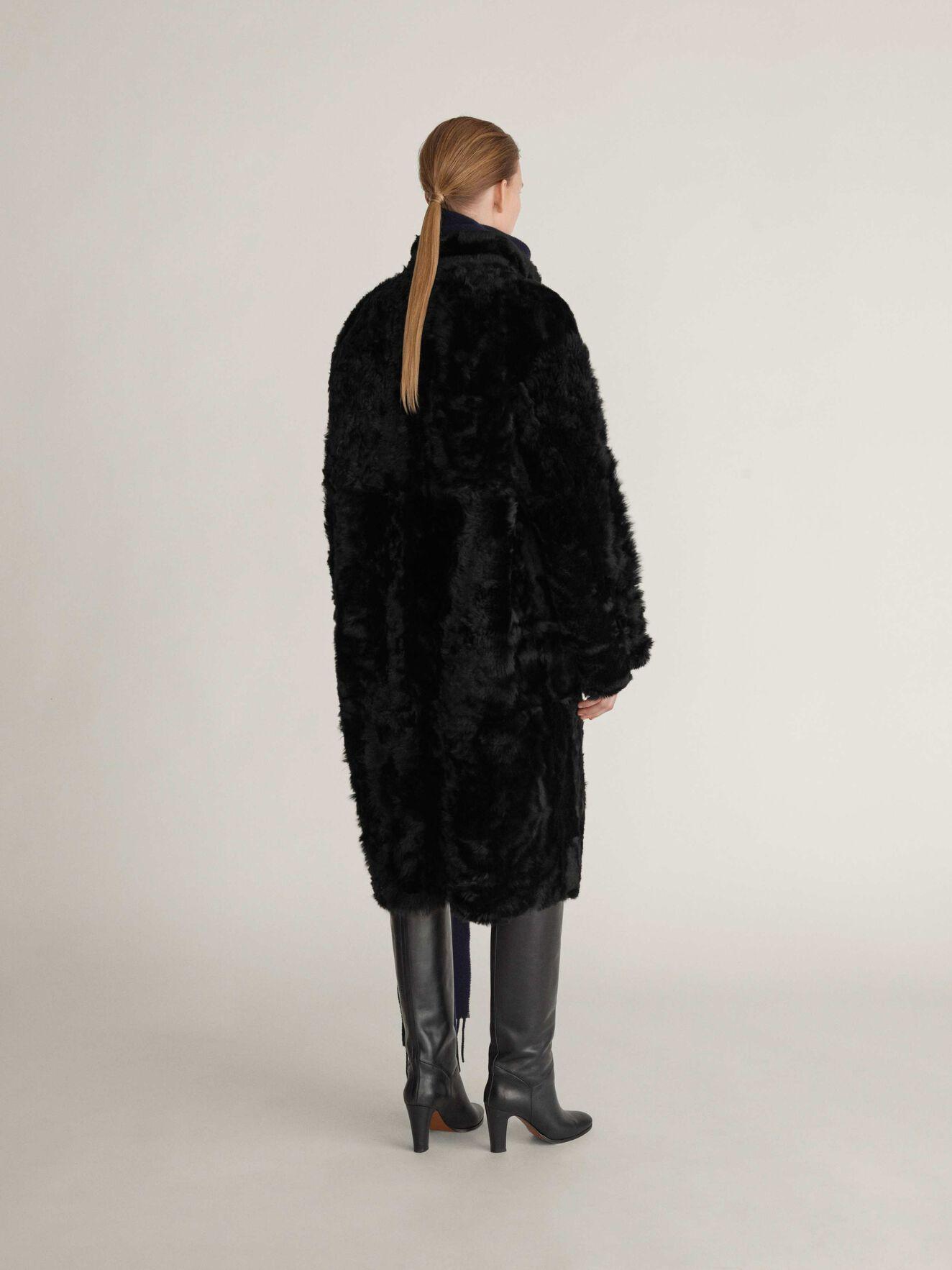 Klon Fur in Midnight Black from Tiger of Sweden