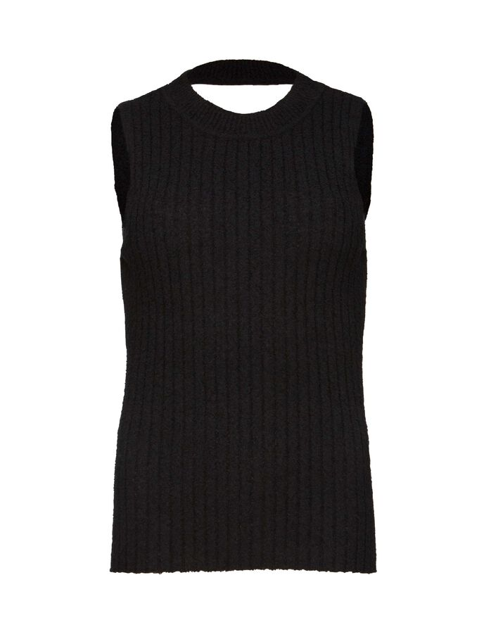 RAQUELLA  SLEEVELESS PULLOVER in Midnight Black from Tiger of Sweden