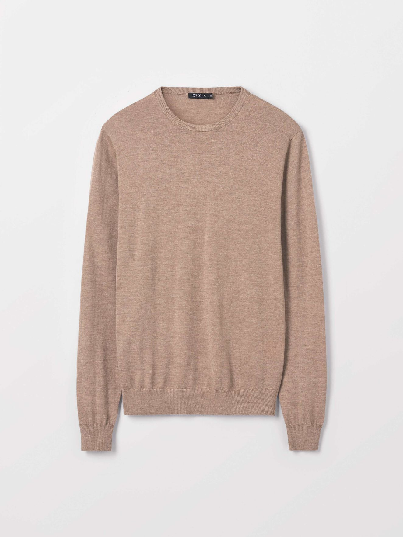 Nichols Pullover in Macchiato from Tiger of Sweden