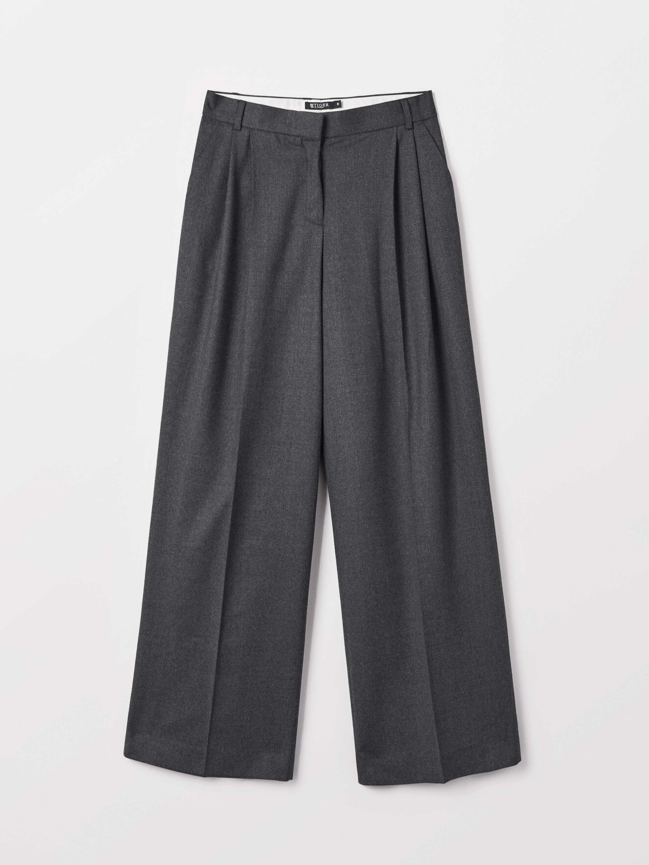 Fabiola Trousers in Med Grey Mel from Tiger of Sweden