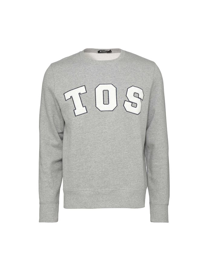 HUBERTZ PR SWEATSHIRT in Light grey melange from Tiger of Sweden