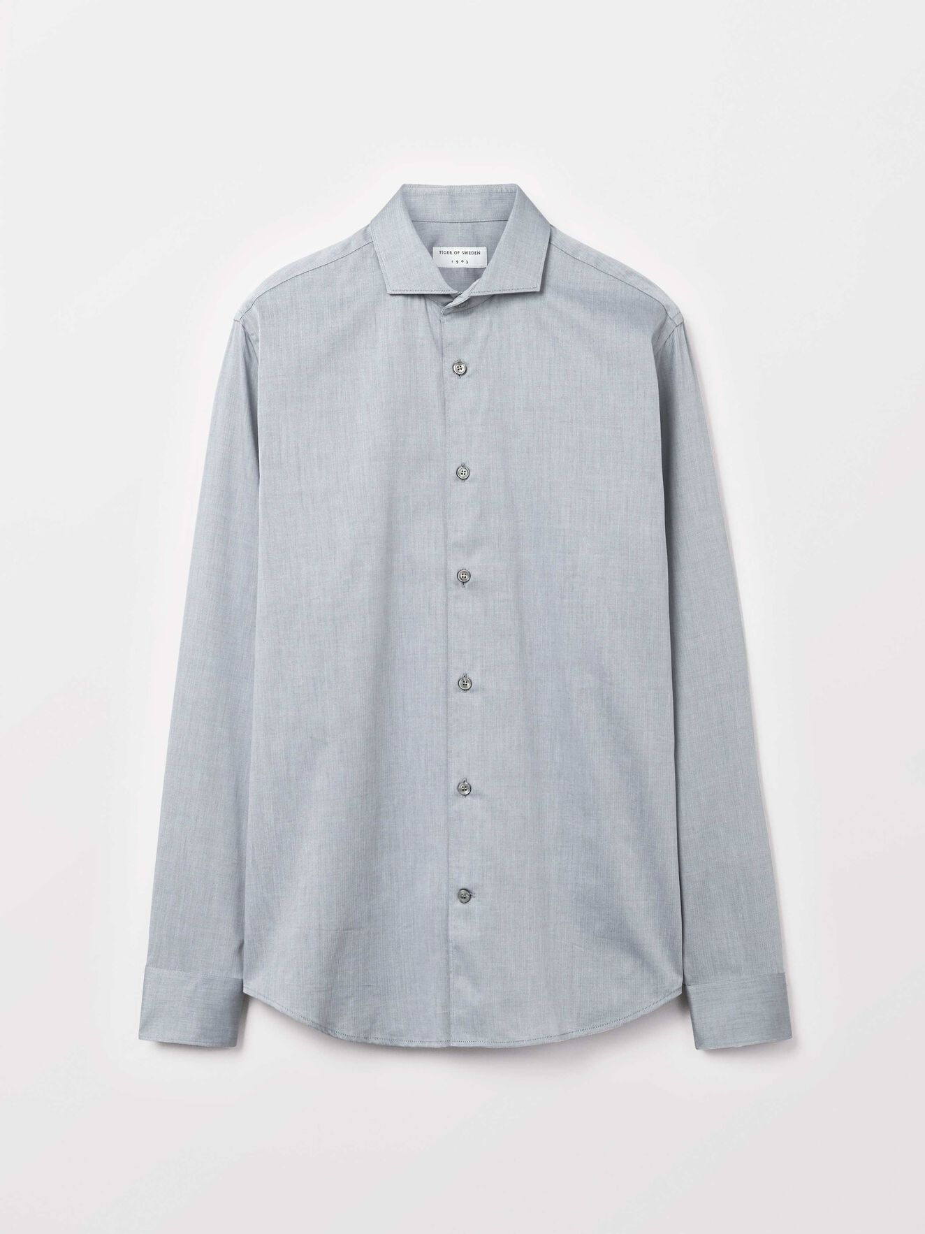 Farrell 5 Shirt in Med Grey Mel from Tiger of Sweden