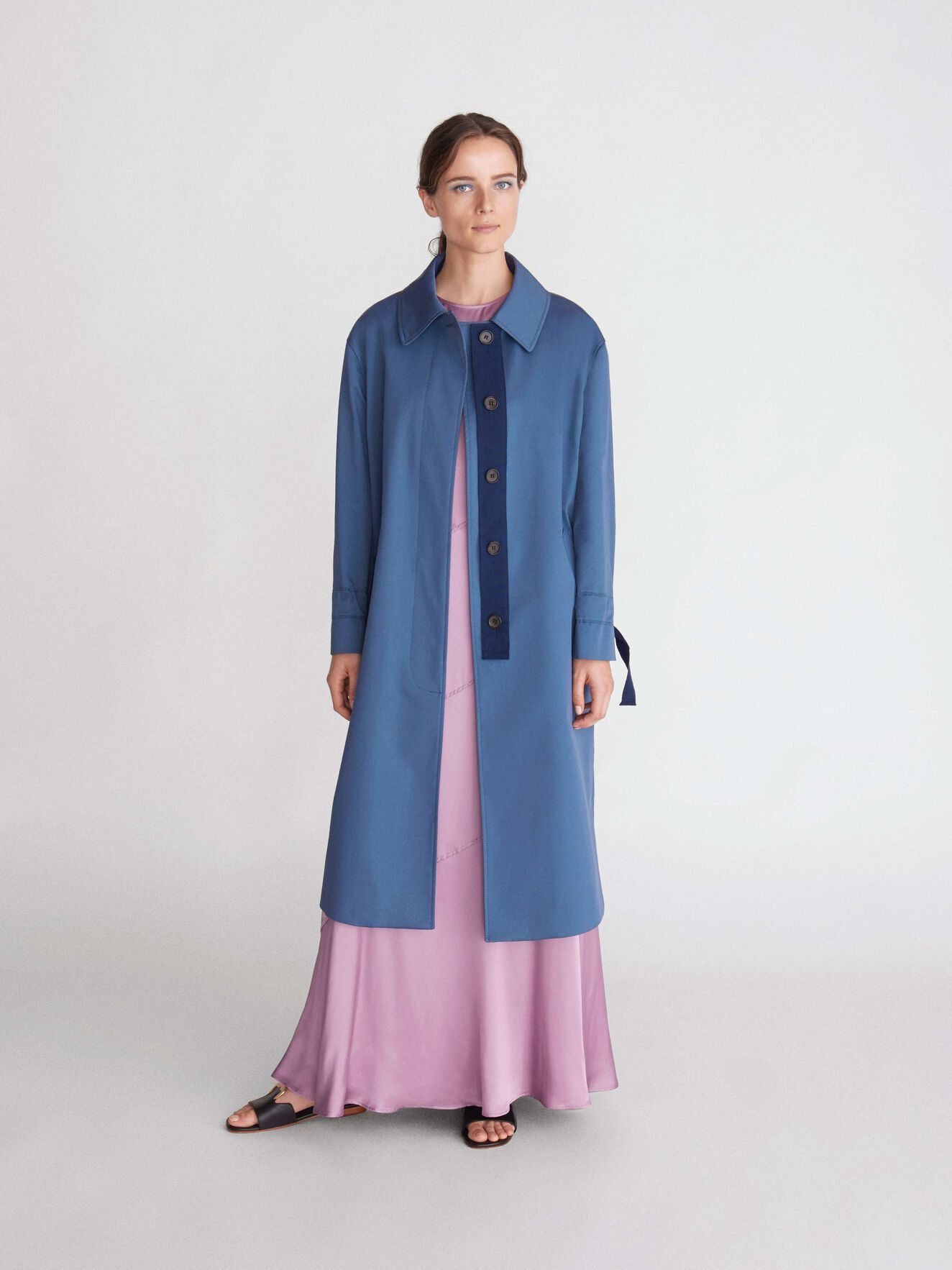 Agit Coat in Soft blue from Tiger of Sweden
