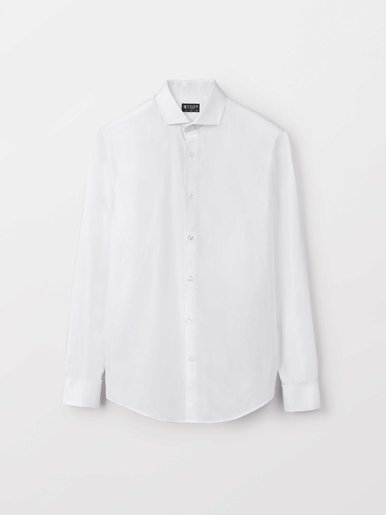 Farrell Dc Shirt in Pure white from Tiger of Sweden
