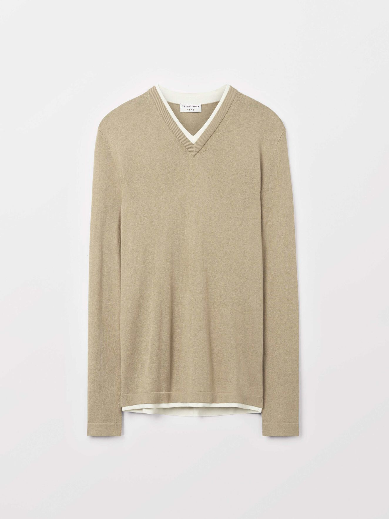 Nitlas Pullover in Dark Sand from Tiger of Sweden