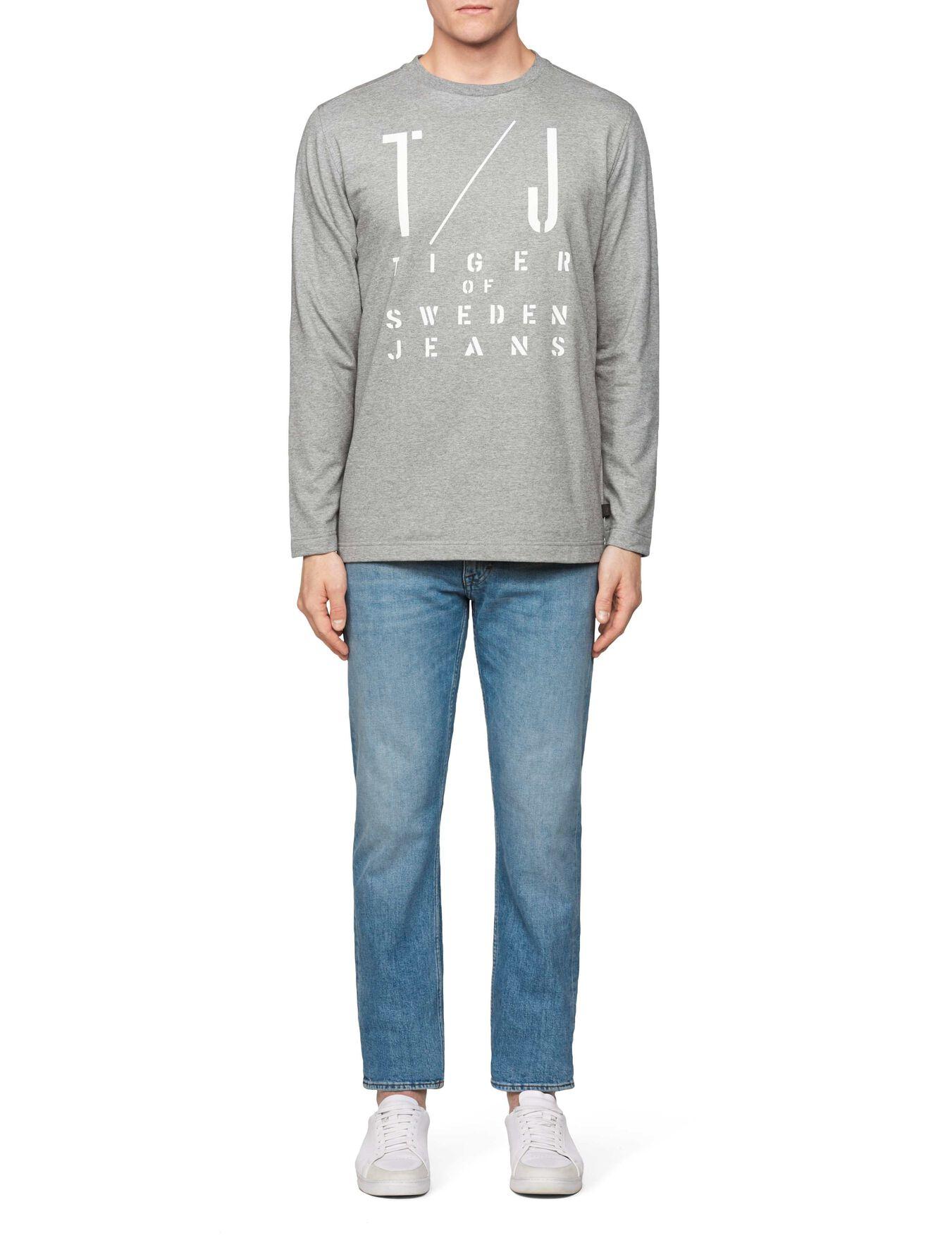 Zac Pr Sweatshirt in Grey melange from Tiger of Sweden