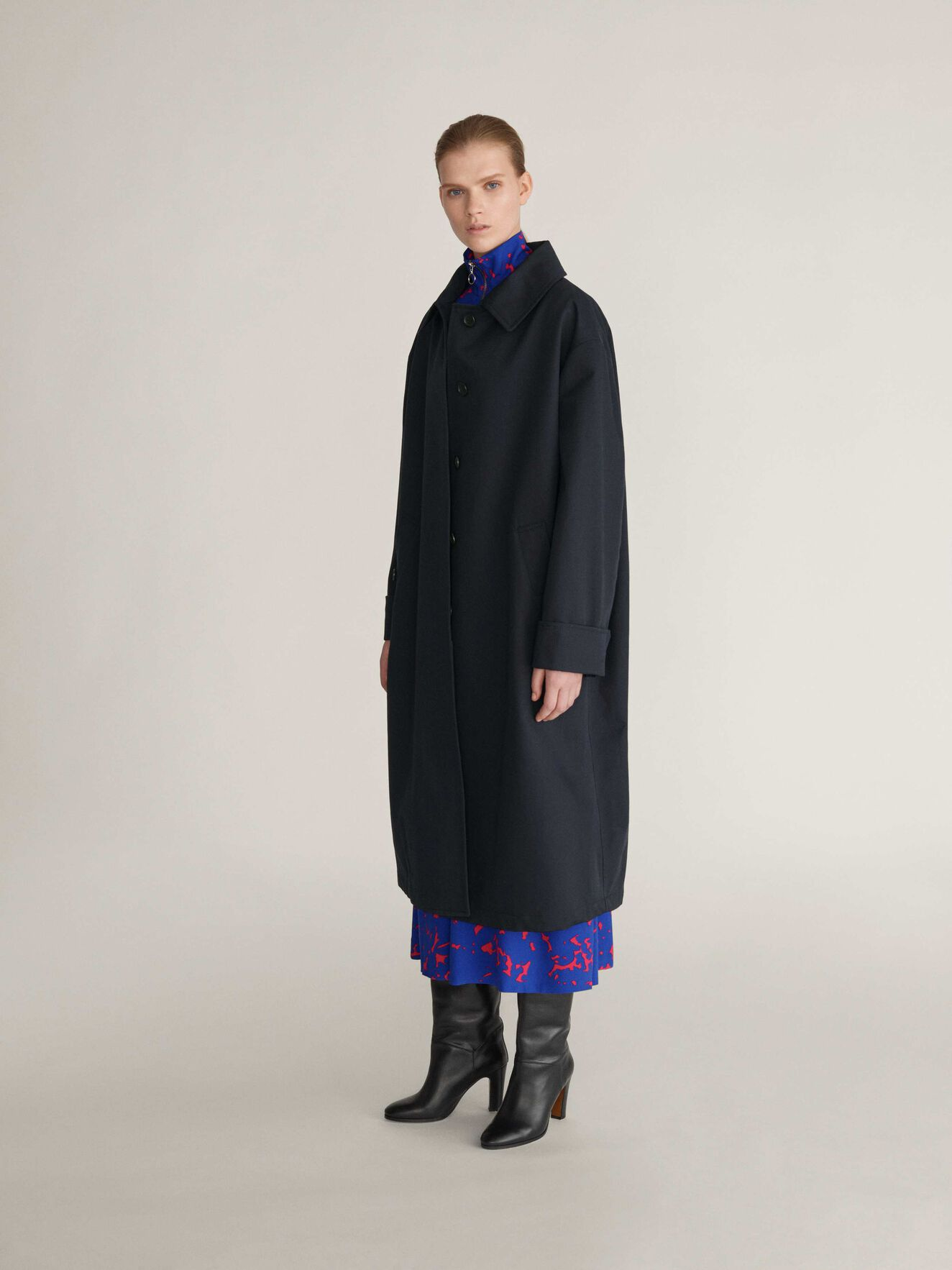 Endem Coat in Dark Sea from Tiger of Sweden