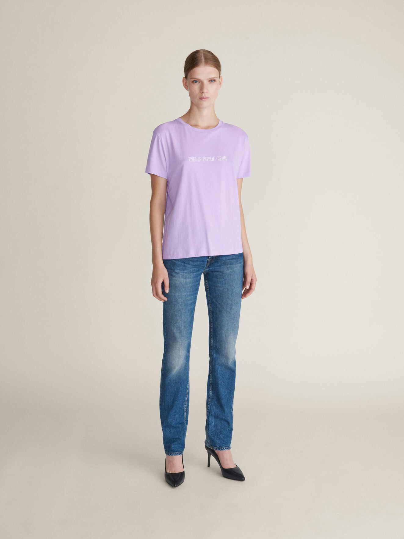 Dawn Print-T-Shirt in Lilac Breeze from Tiger of Sweden