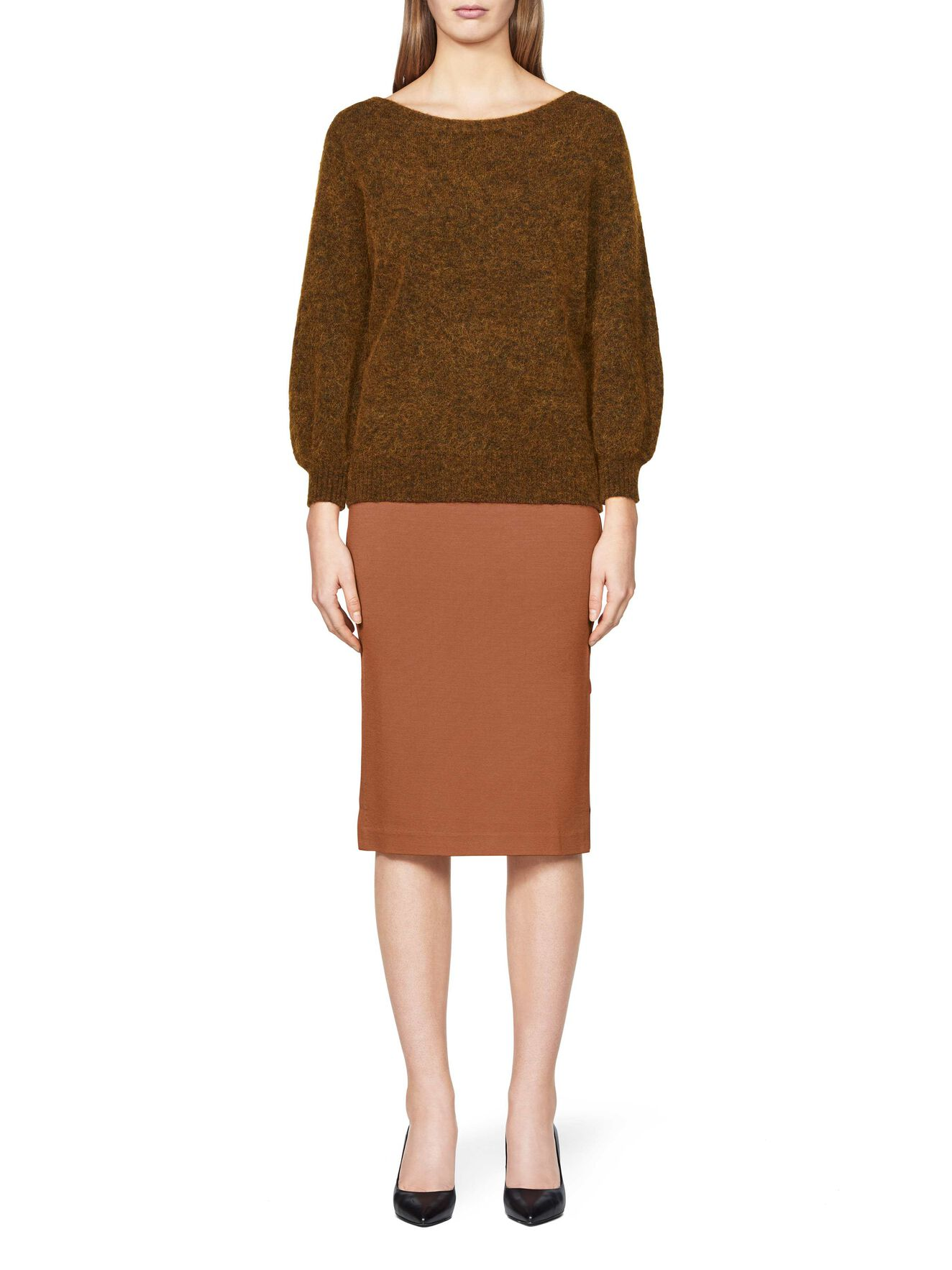 Franki skirt in Leather Brown from Tiger of Sweden