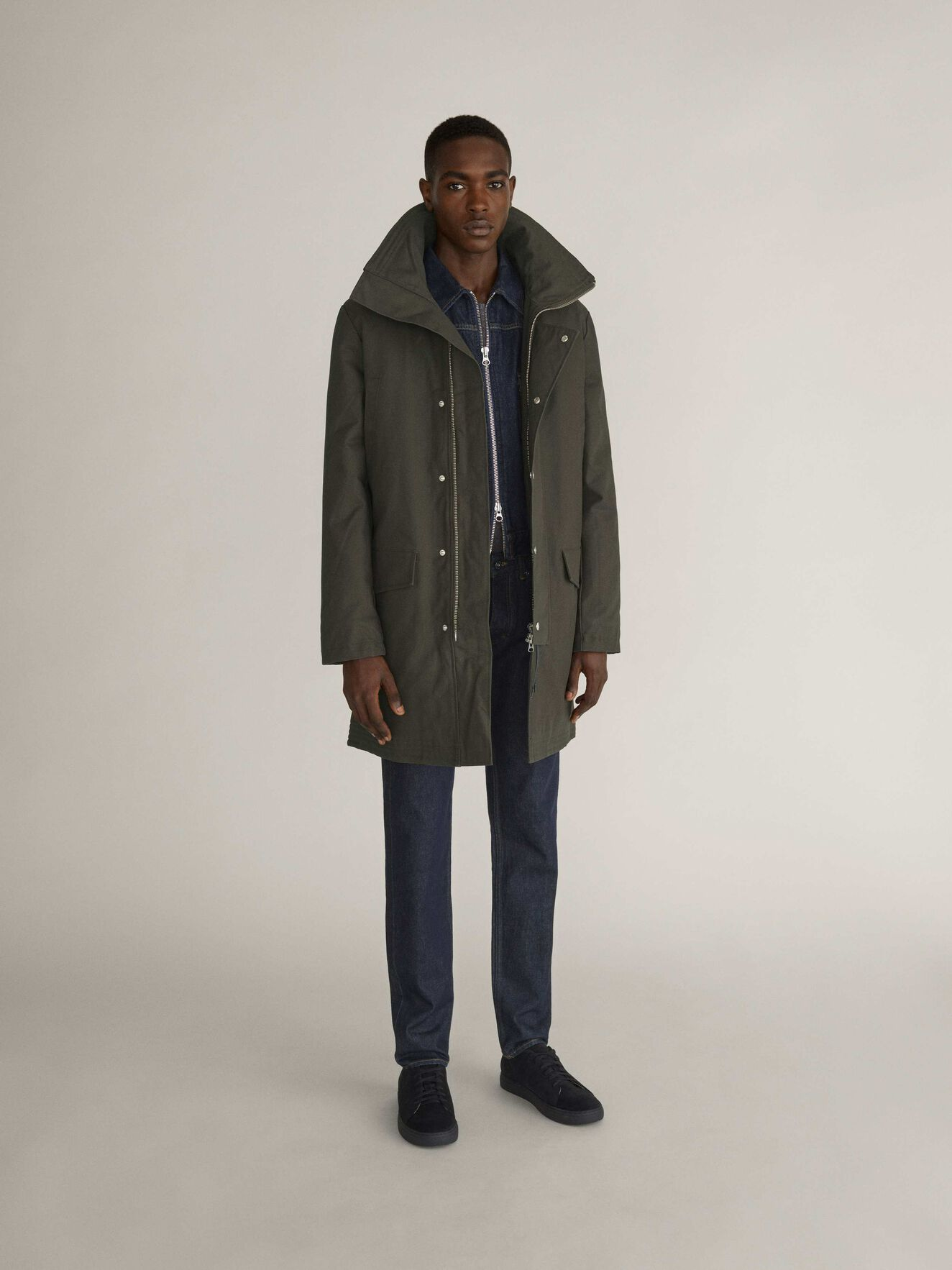 Contract Parka in Black Olive from Tiger of Sweden