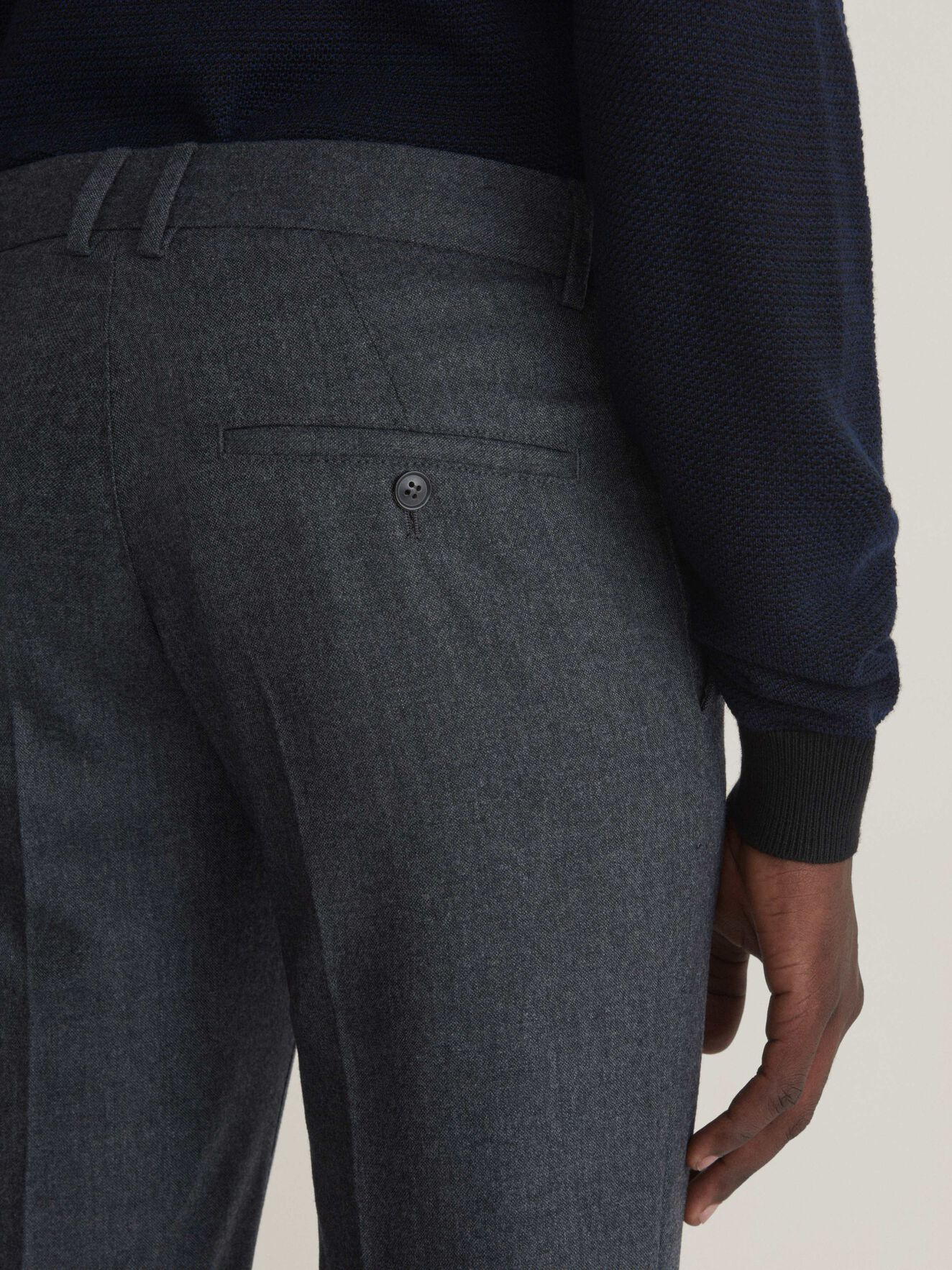 Todman Trousers in Med Grey Mel from Tiger of Sweden