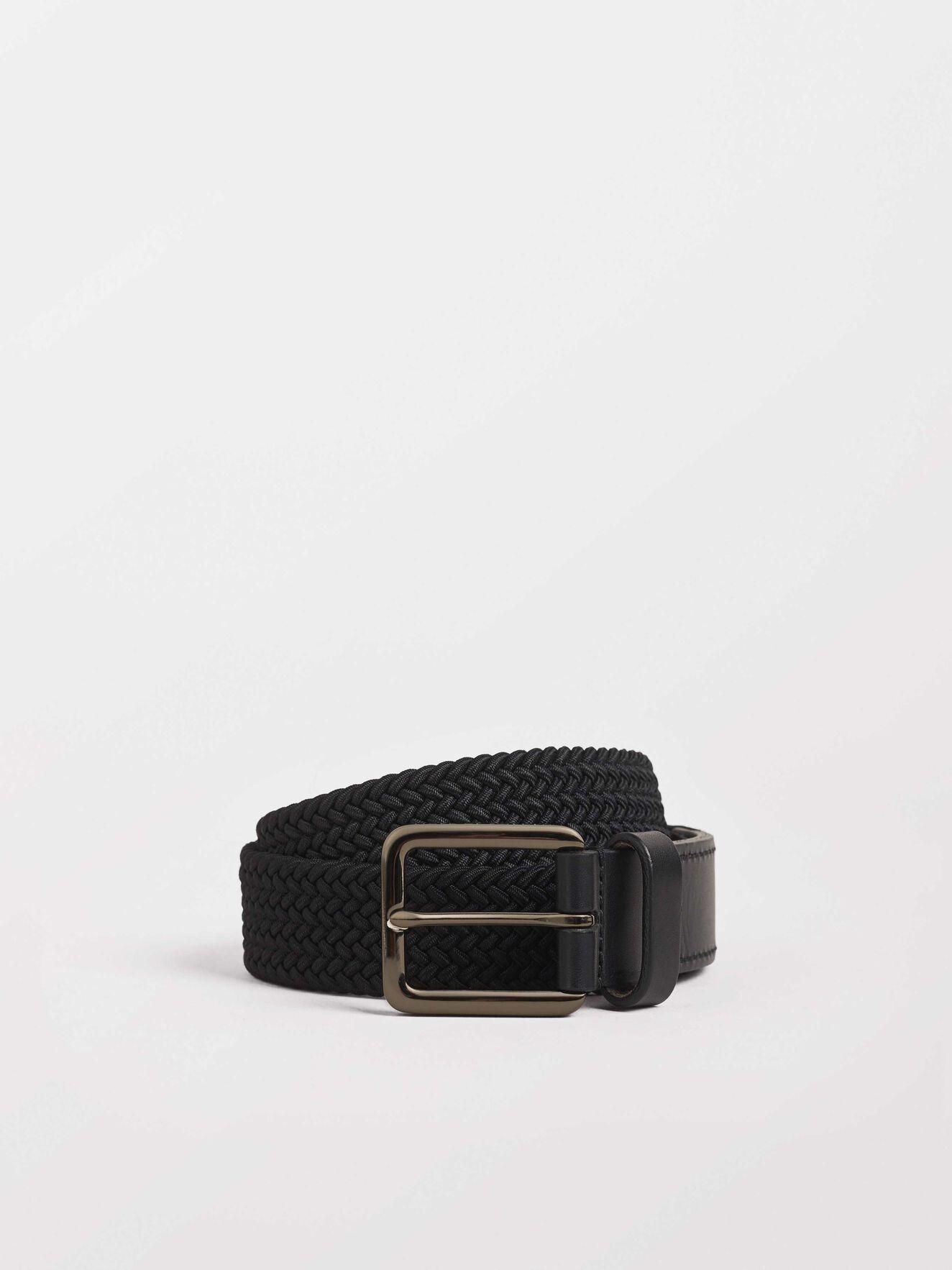 Braidant E Belt in Black from Tiger of Sweden
