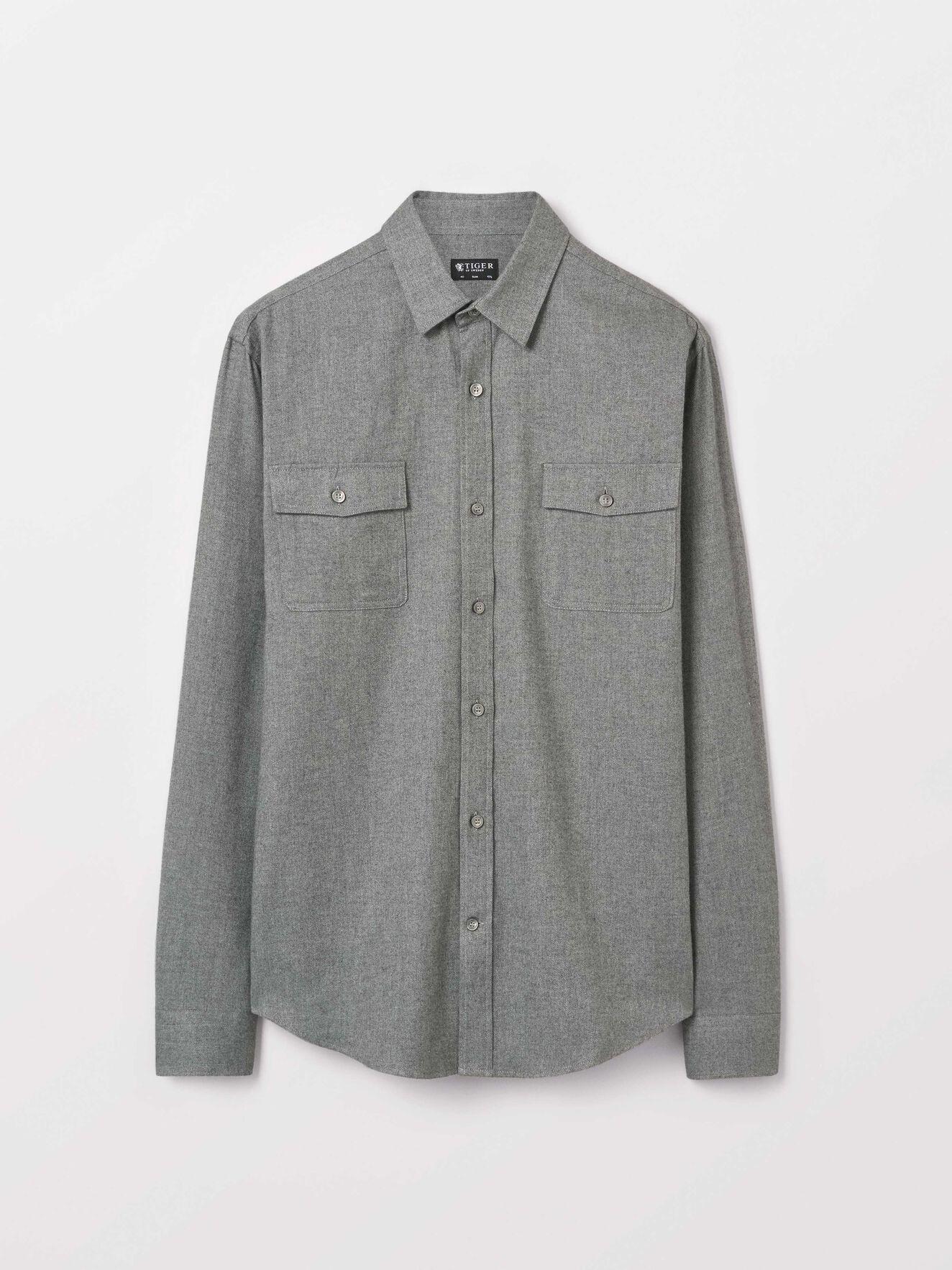 Frits Shirt in Light grey melange from Tiger of Sweden