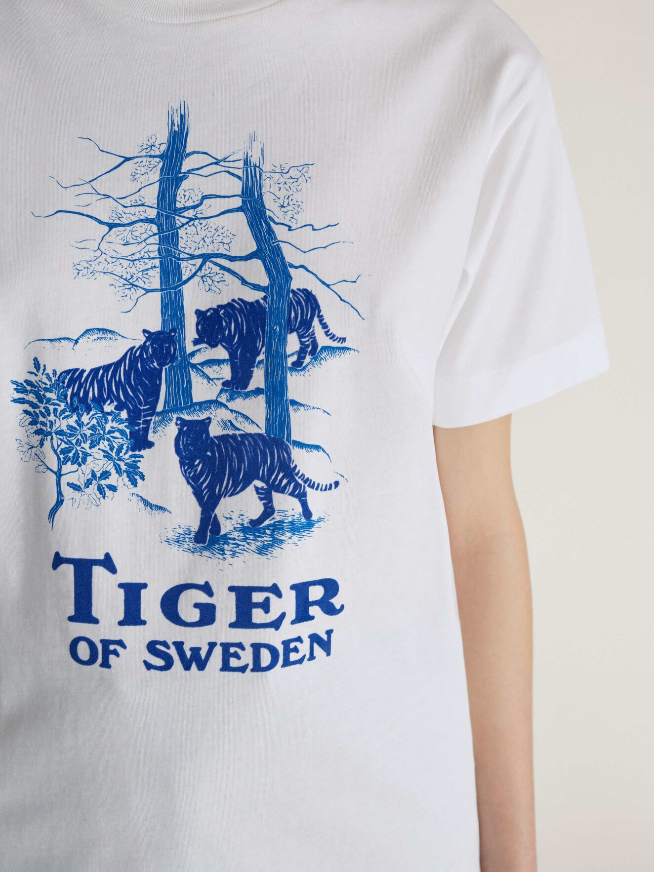 T-Shirt Dellana P in Bright White from Tiger of Sweden